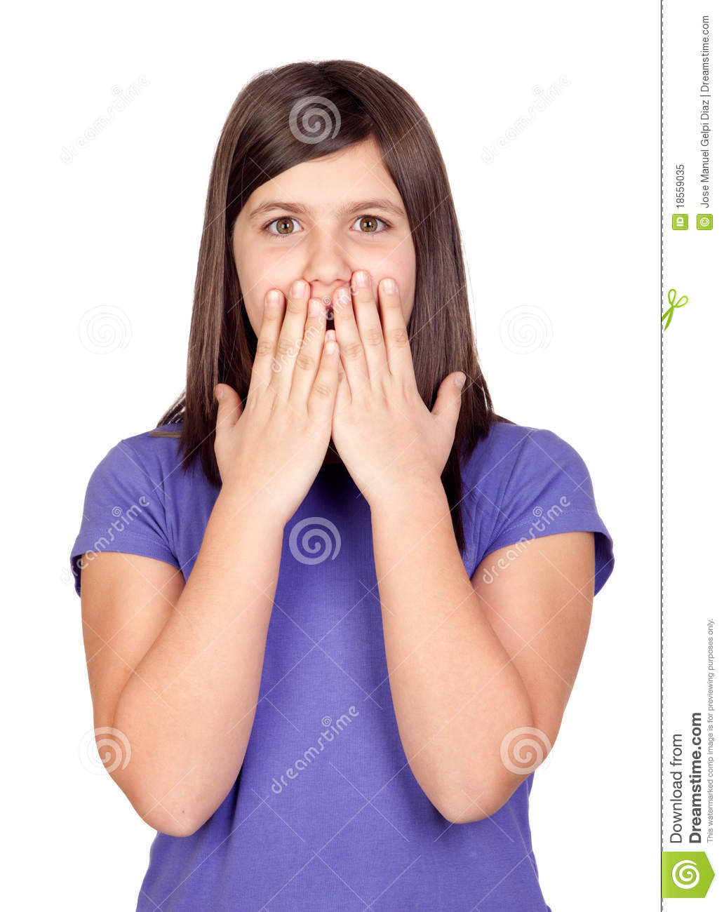Teen Girl Surprised Face