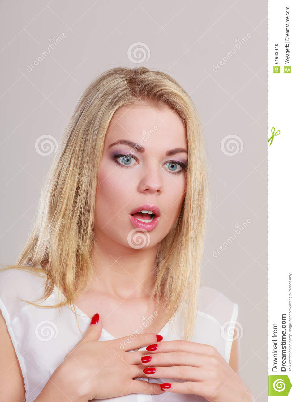 Surprised Shocked Woman Face With Open Mouth Stock Photo ...  Surprised Shock...