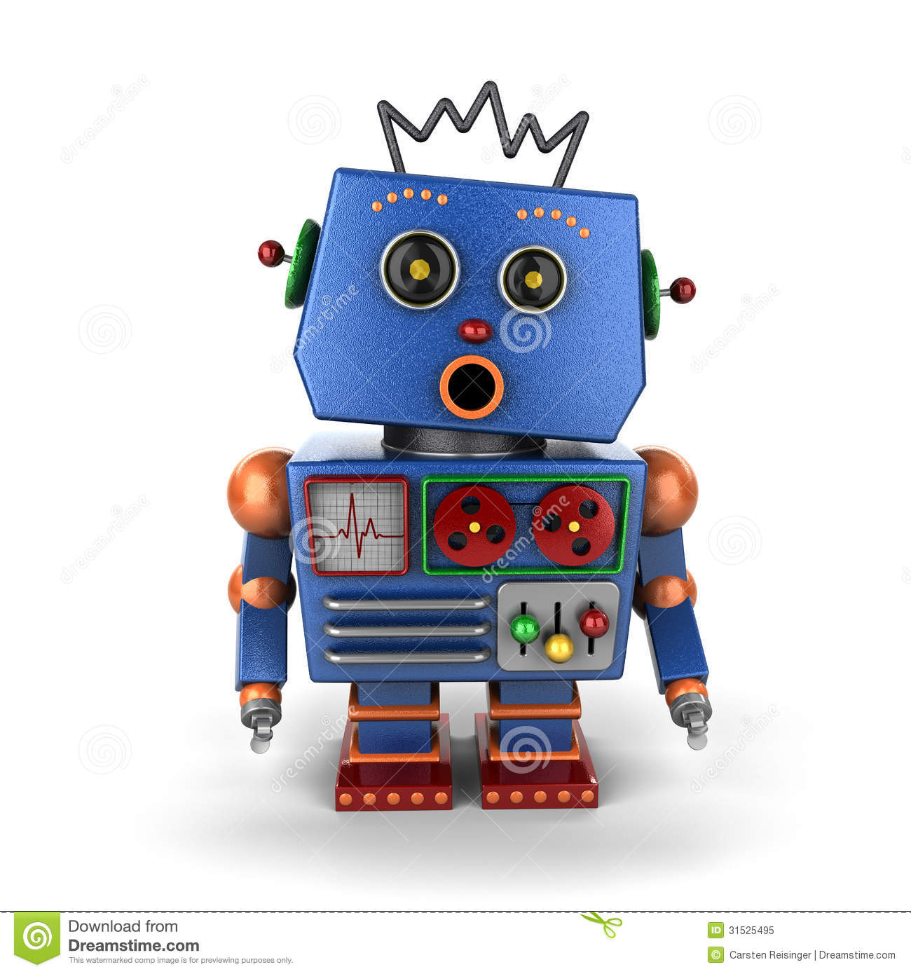 Surprised Vintage Robot Royalty Free Stock Photo