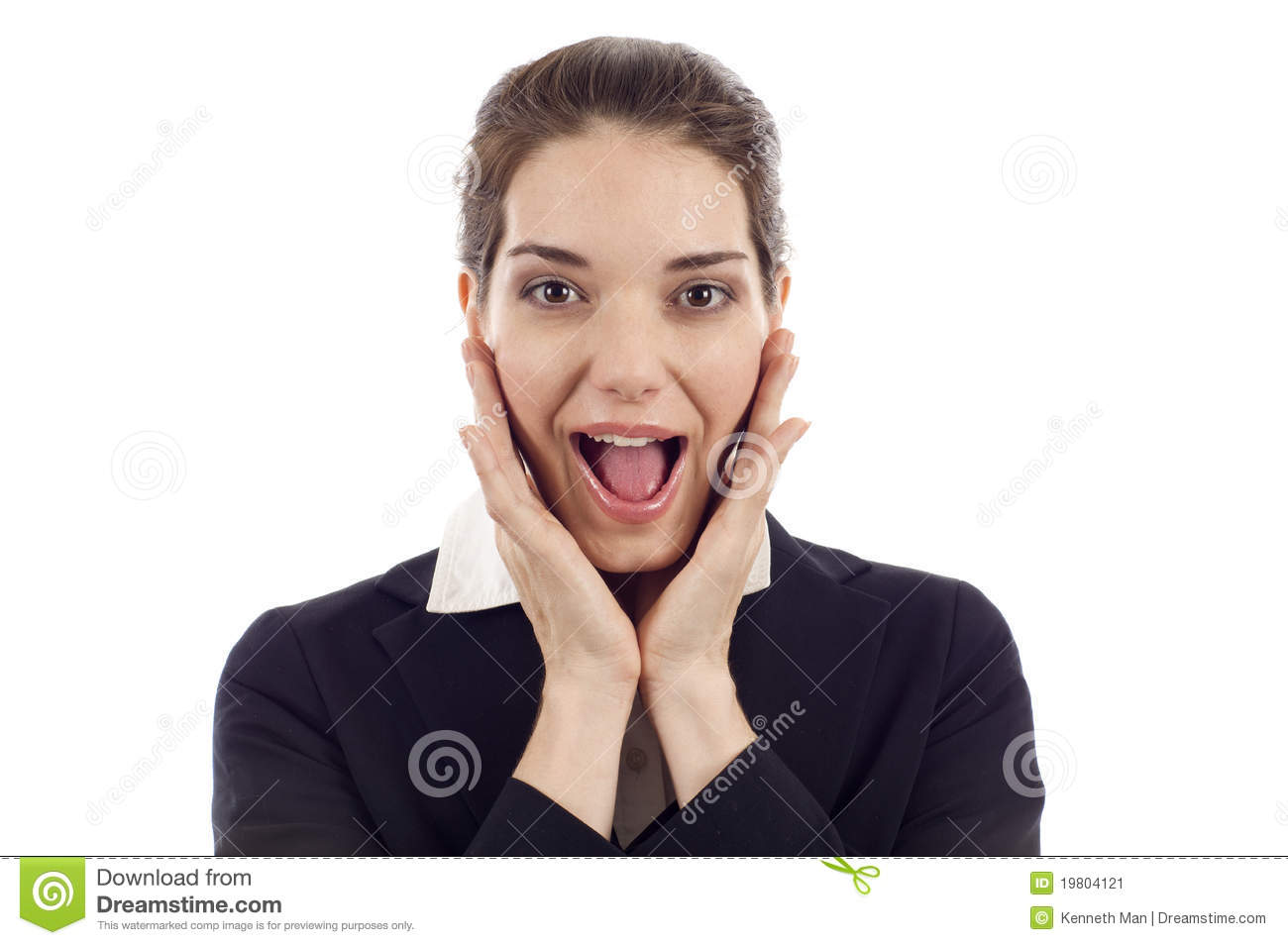 Download Surprised Woman stock image. Image of expression, happy - 19804121