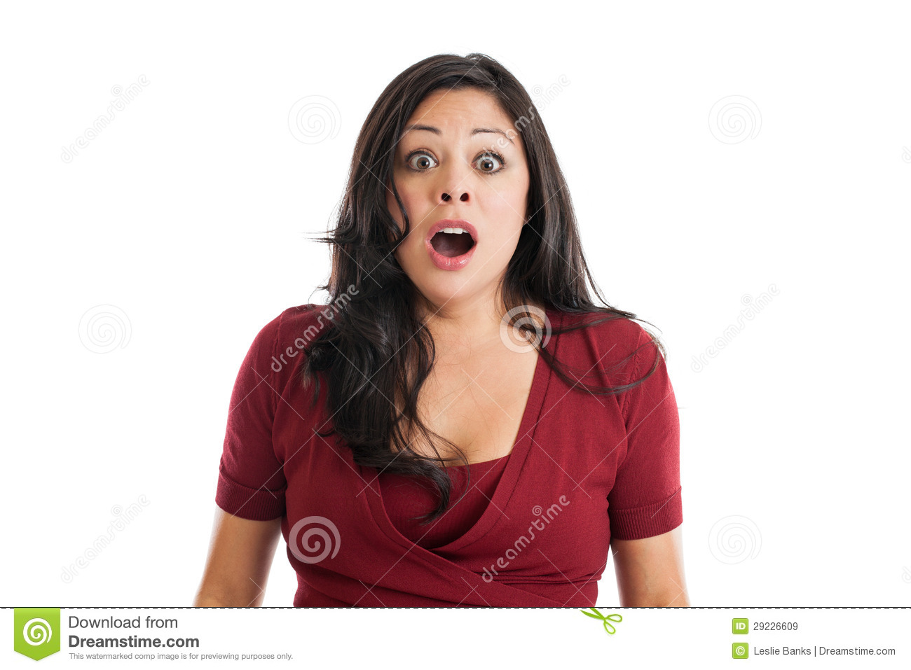 Surprised Woman Expression Royalty Free Stock Images - Image: 29226609