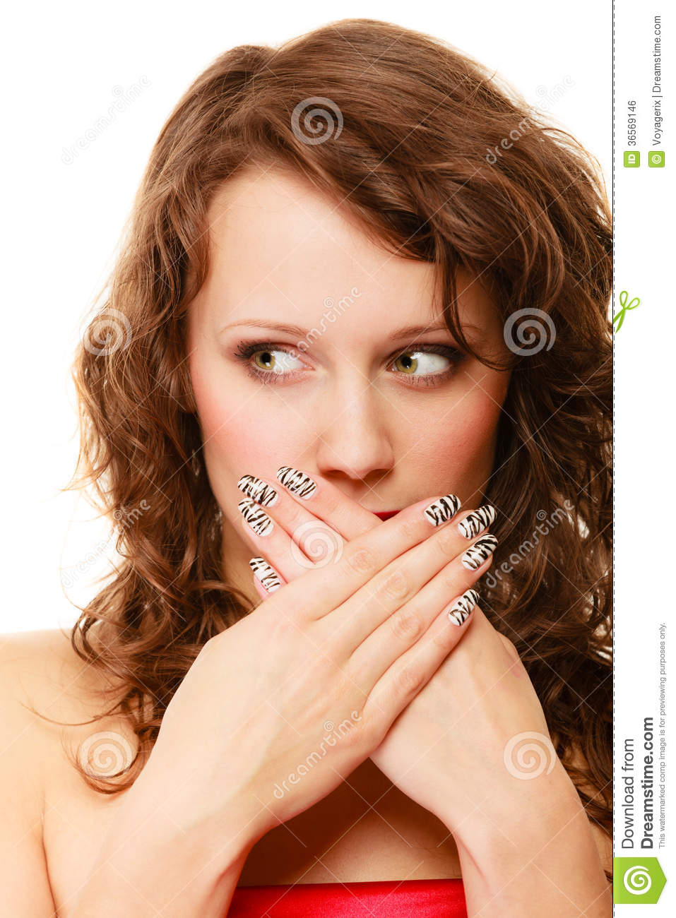 Face Of Surprise Woman Isolated Over White Stock Photo ...