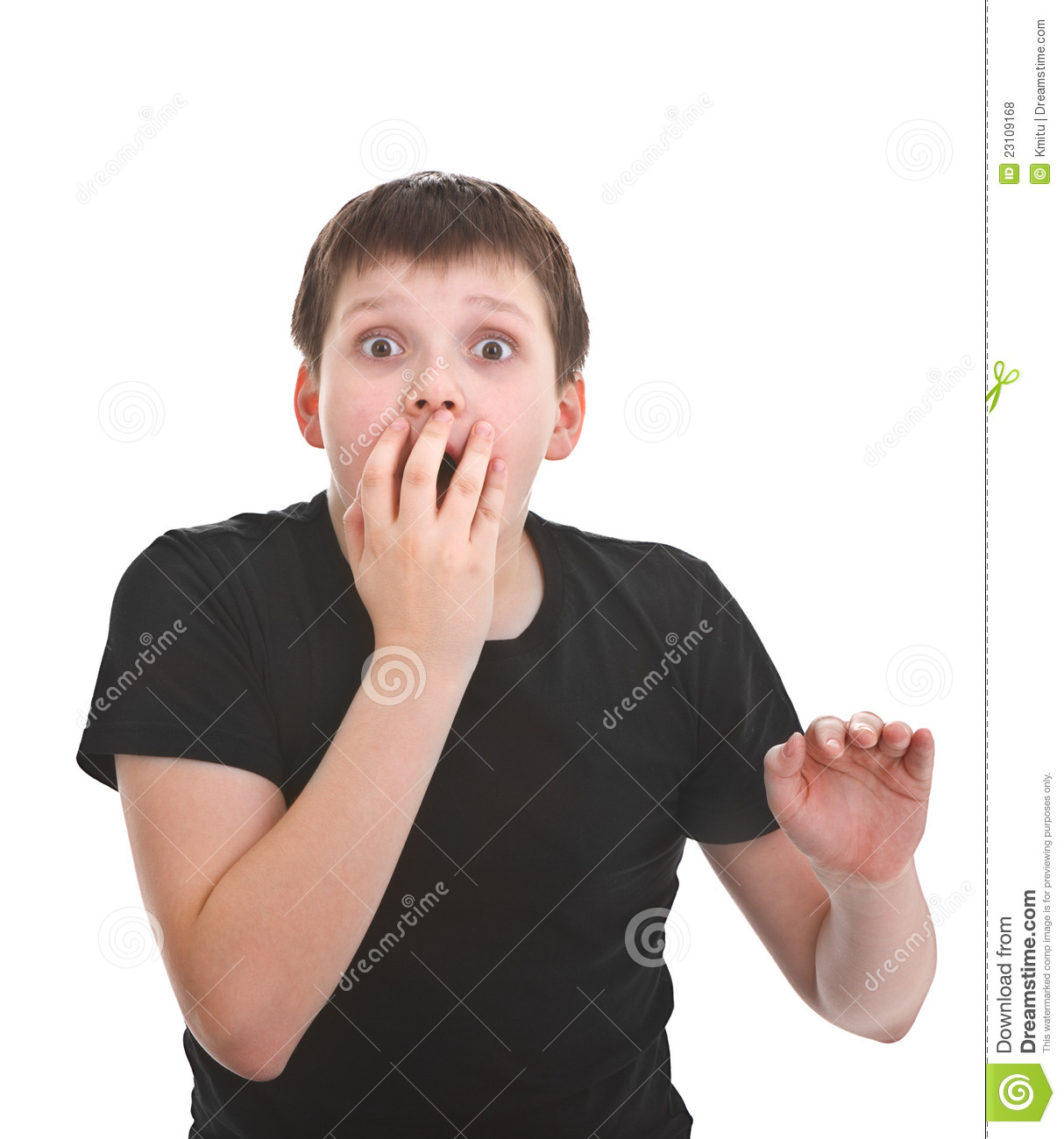 Surprised young boy stock photo  Image of wonder, portrait