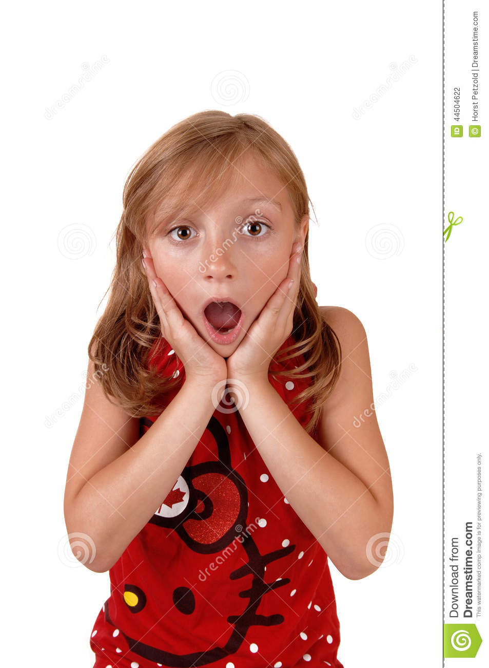 Surprised Young Girl. Stock Photo