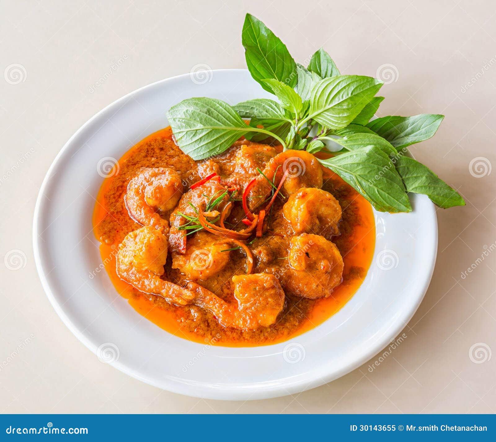 Camarão fritado caril