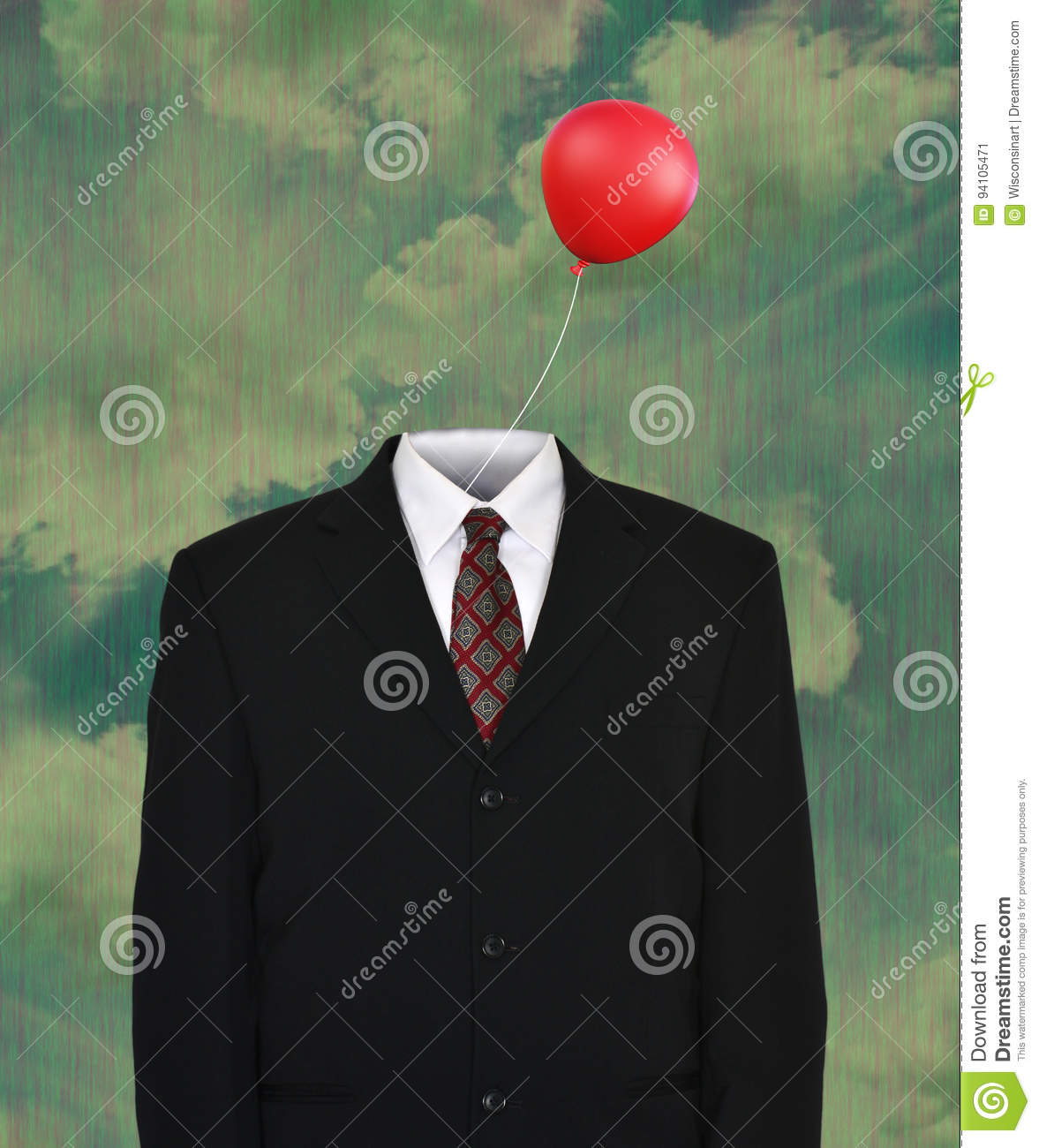 Surreal Empty Business Suit Balloon Stock Image Image Of Surreal