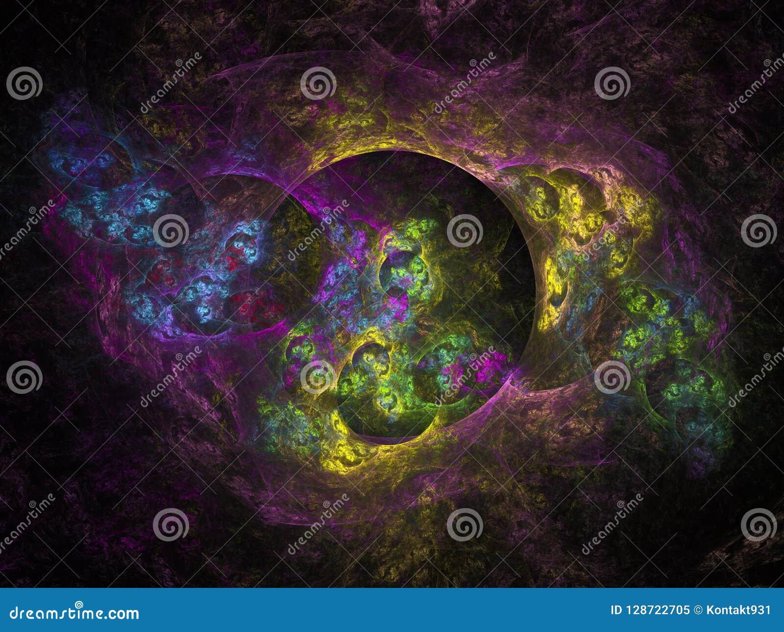 Surreal Futuristic Digital 3d Design Art Abstract Background Fractal