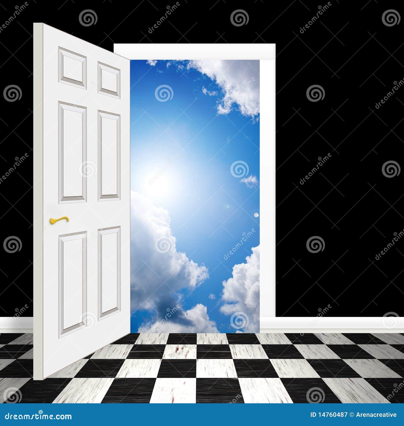 Surreal Heavenly Doorway Stock Illustration Image Of