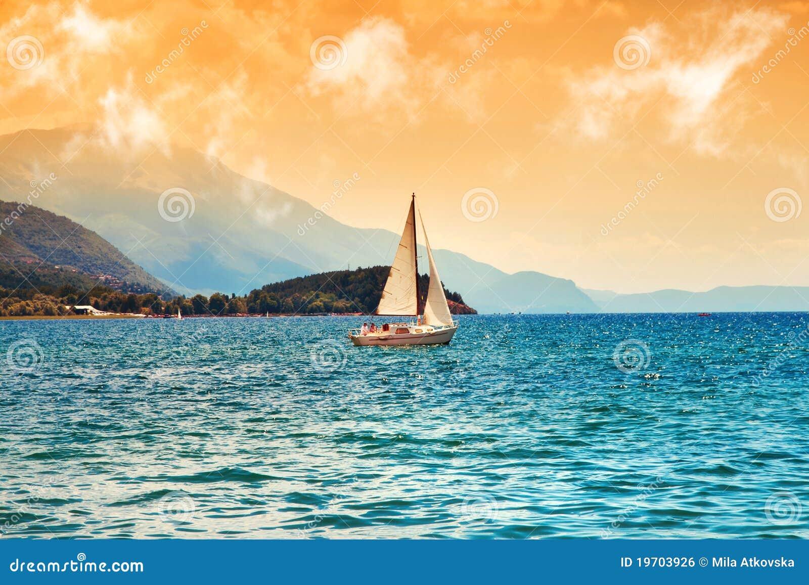 Surreal image of Ohrid Lake