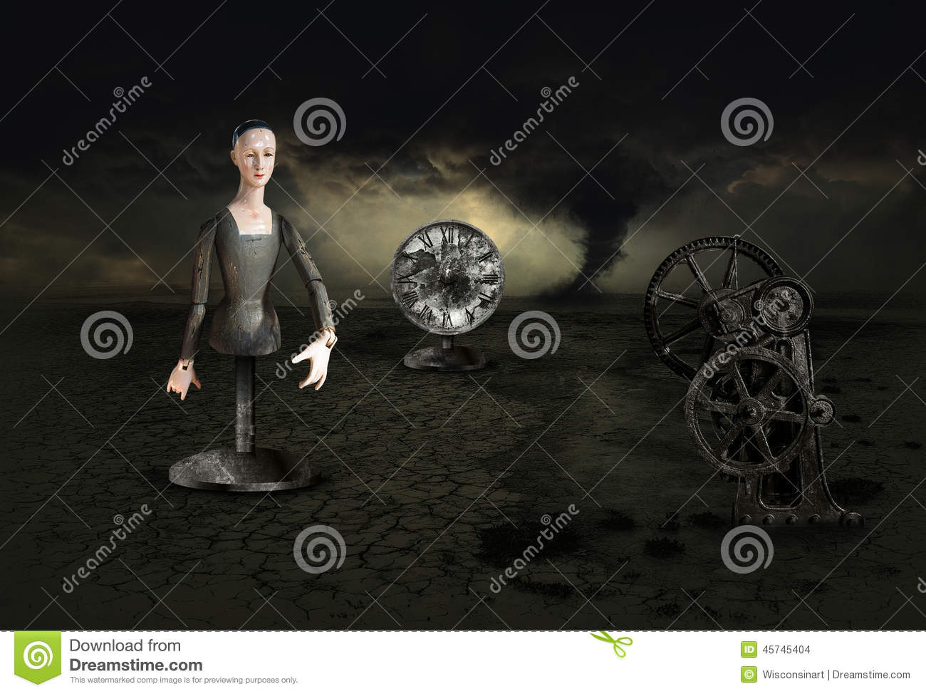 Surreal Surrealism Nightmare Dream Storm Stock Illustration - Image ...