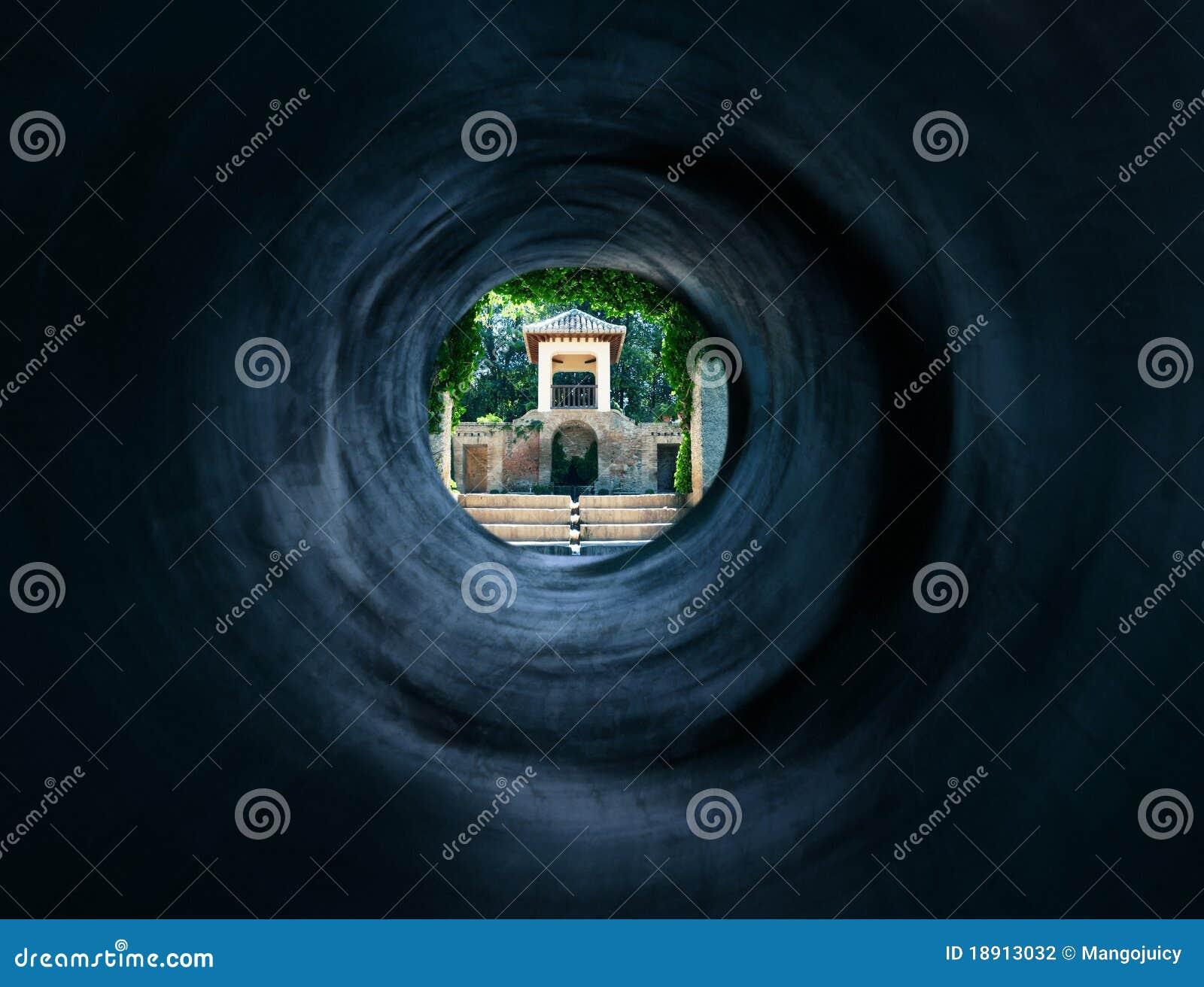 Surreal tunnel aan het mystic Oosterse paleis