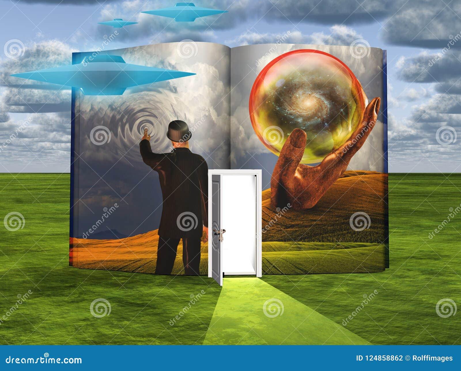 Book of Imagination stock illustration  Illustration of