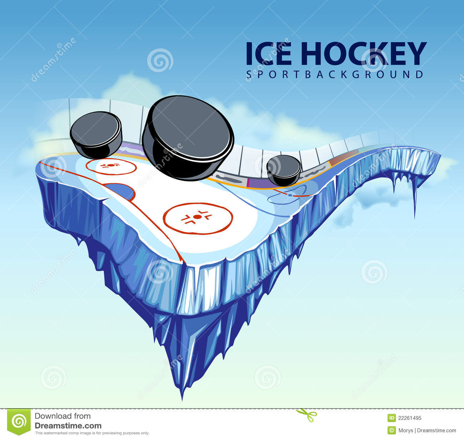 Surrealistyczny hokejowy lodowisko