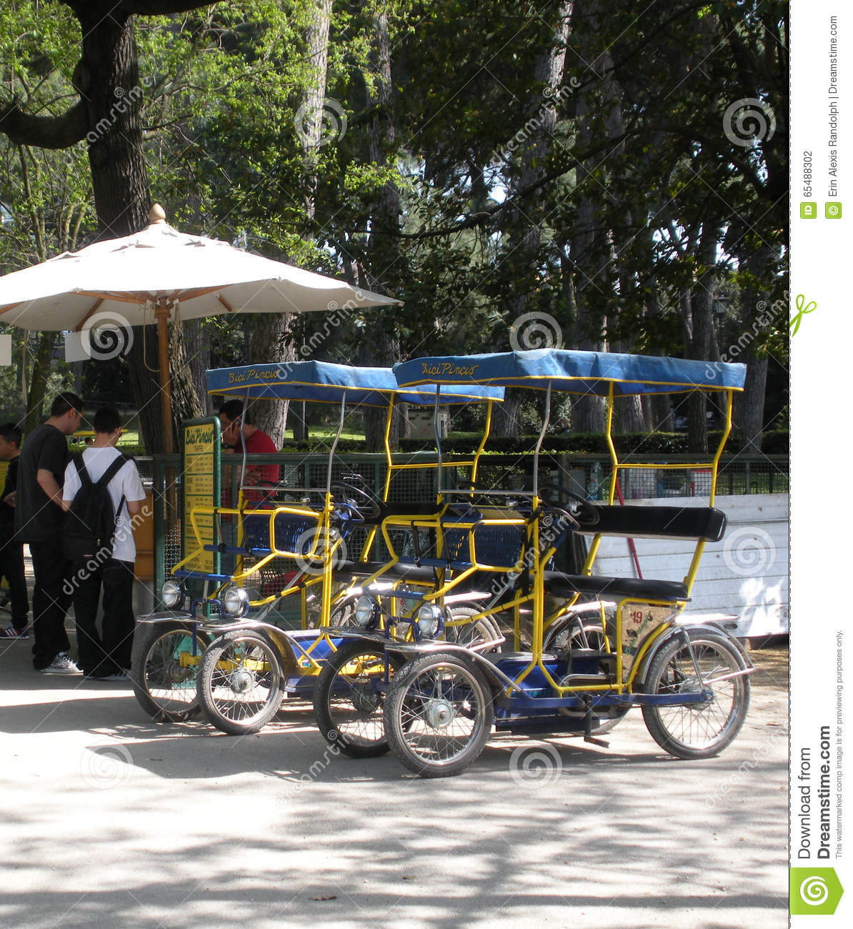 Surrey Bikes For Rent Villa Borghese Rome Italy Editorial