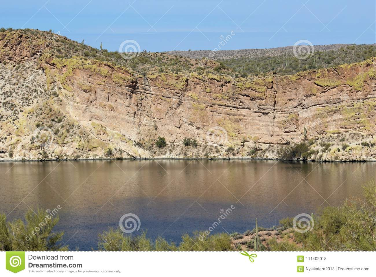 Download Butcher Jones Beach Arizona, Tonto National Forest Stock Photo - Image of national, resources: 111402018