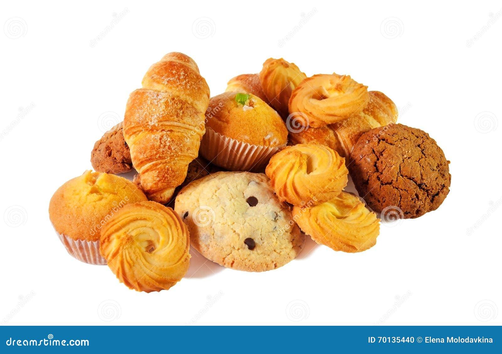 Surtido de pasteles y de galletas Foco selectivo