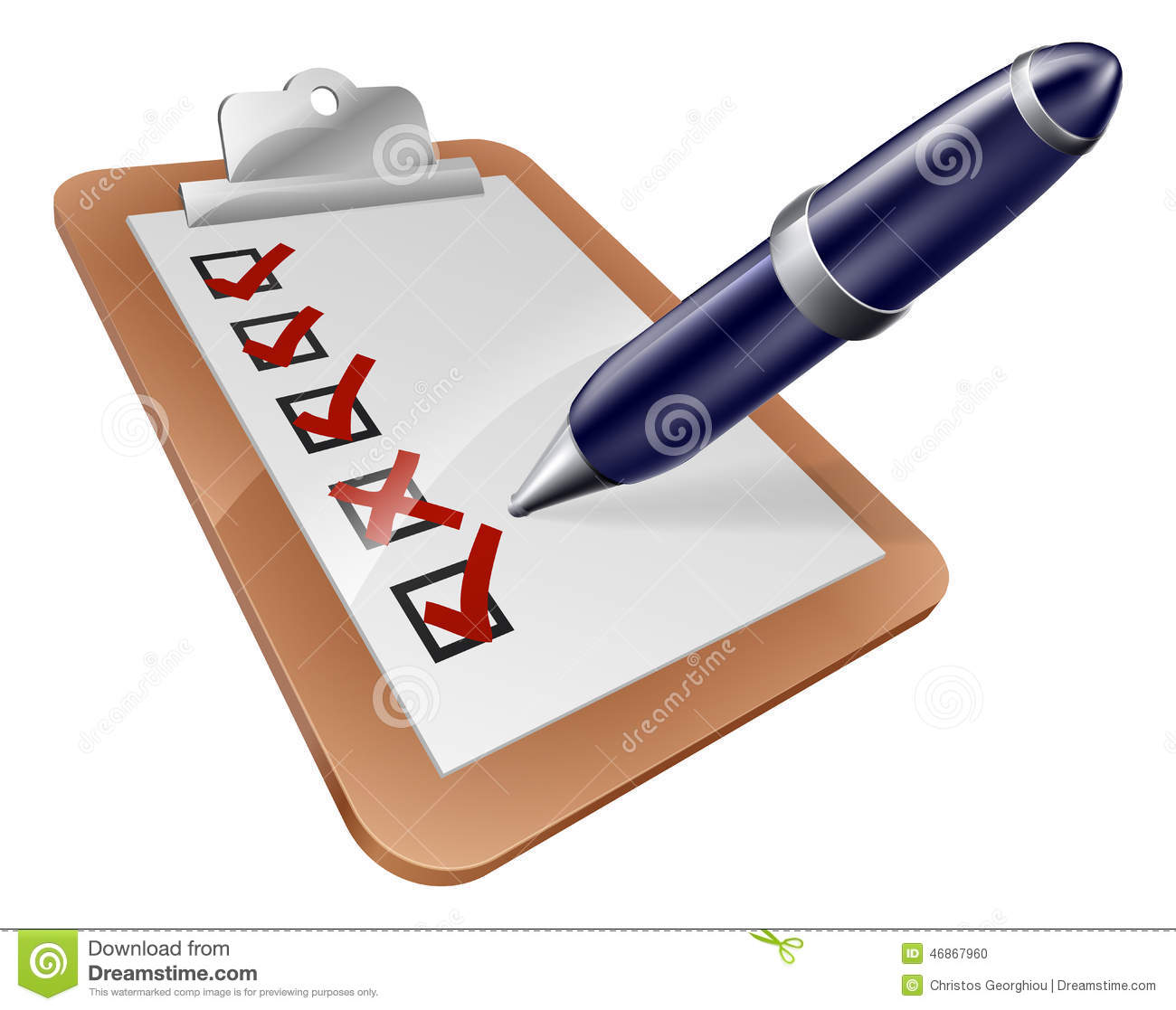 survey clipboard and cartoon pen stock vector image Employment Clip Art Take Part in Examination Clip Art