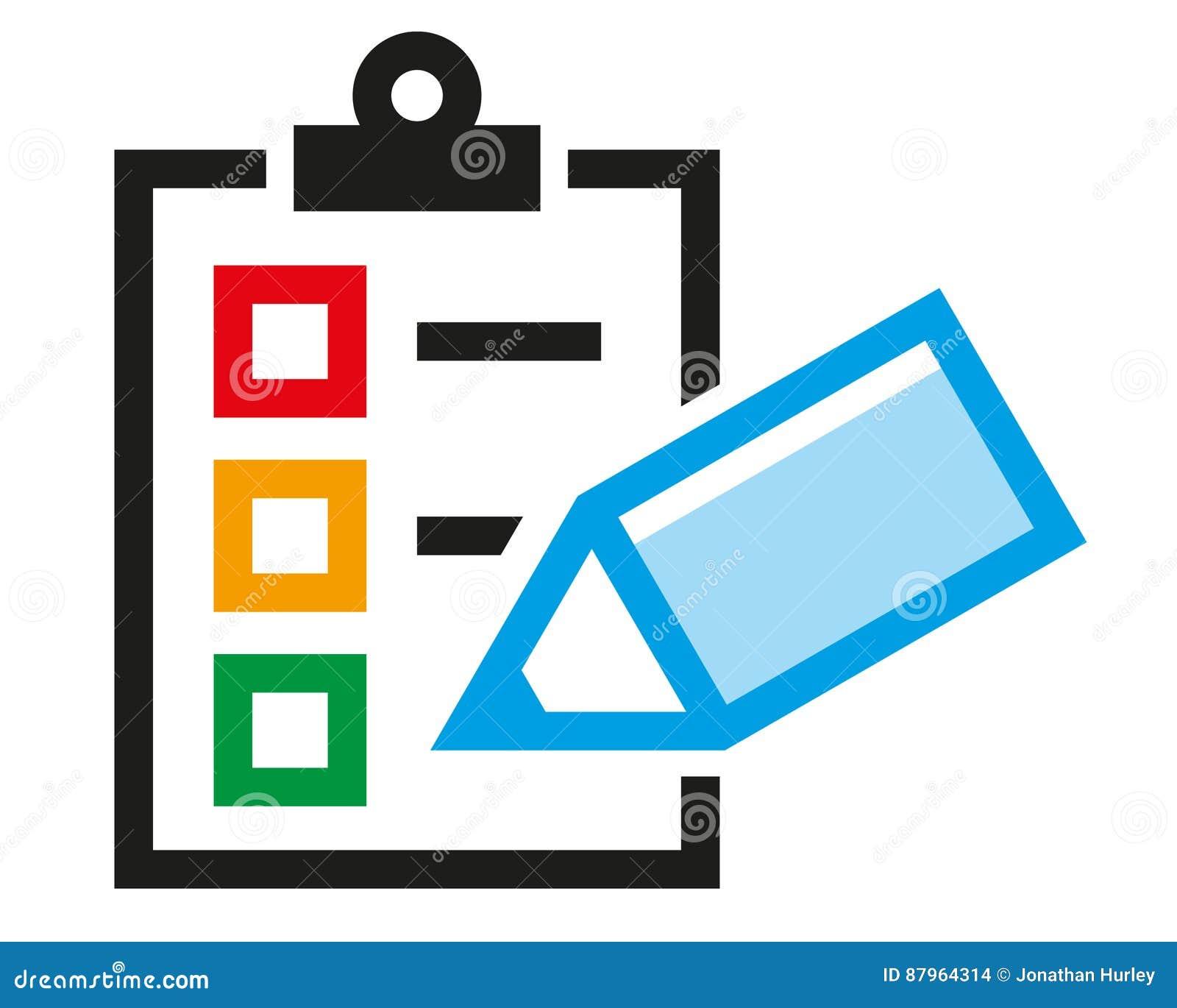 Survey stock vector Illustration of logo surveyQuestionnaire Logo