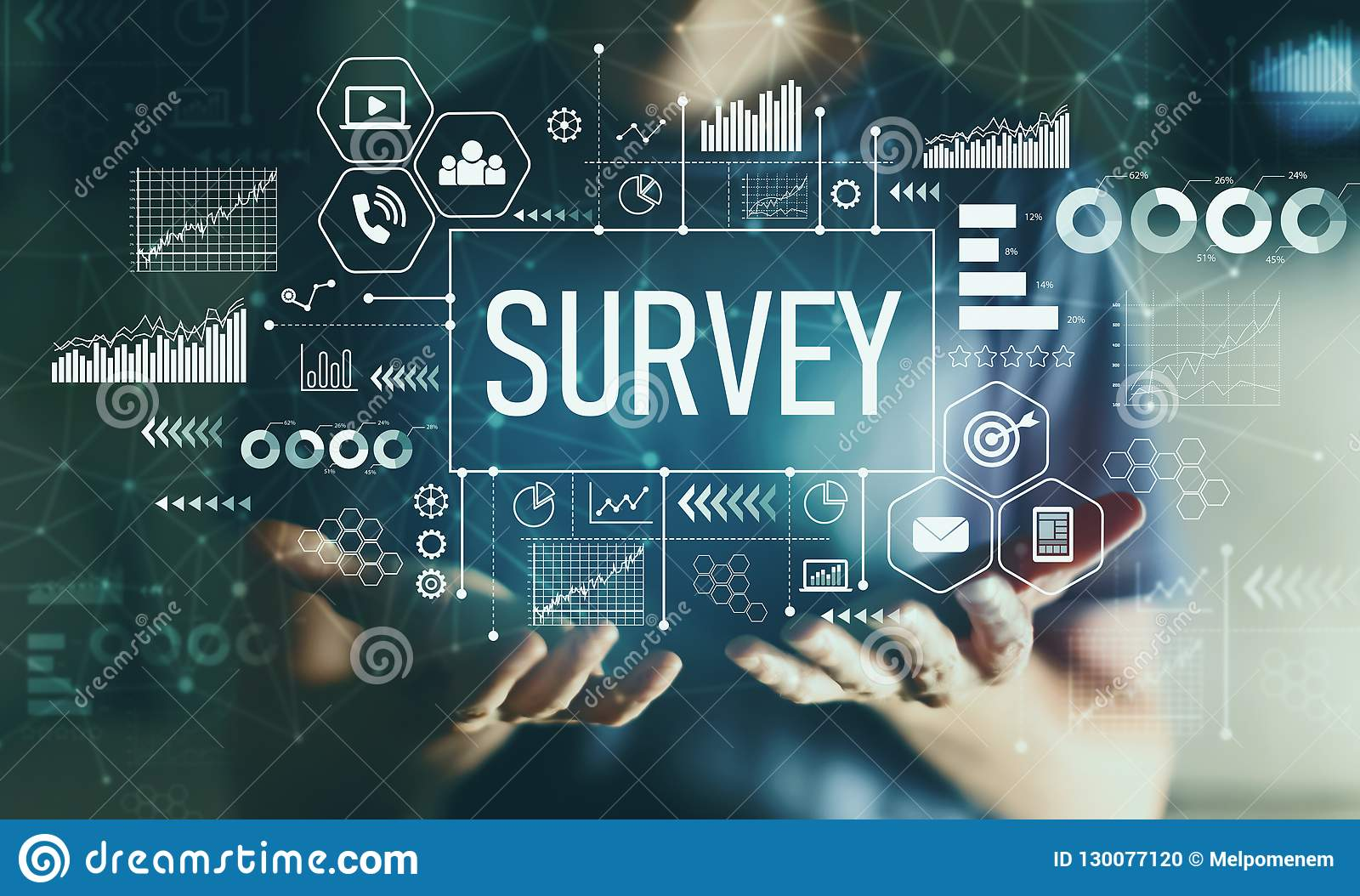 Survey with young man