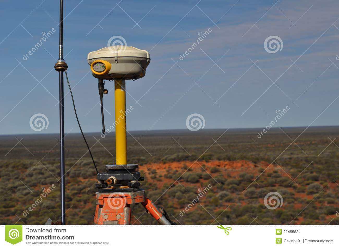 Surveying GPS Equipment Surveyor Stock Photo - Image of pole