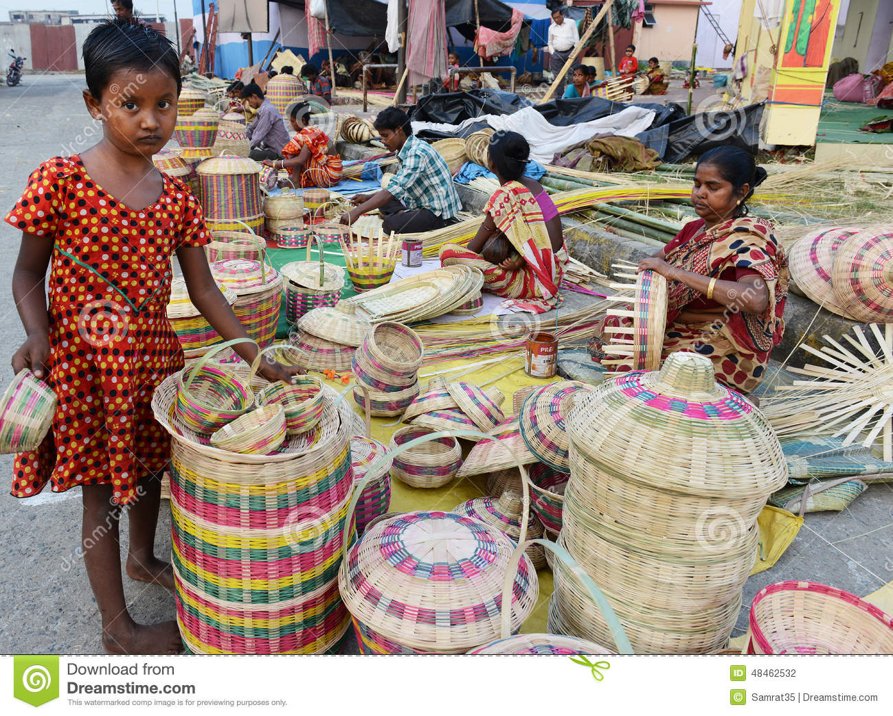 Handicraft Basketry : Survival editorial photography image