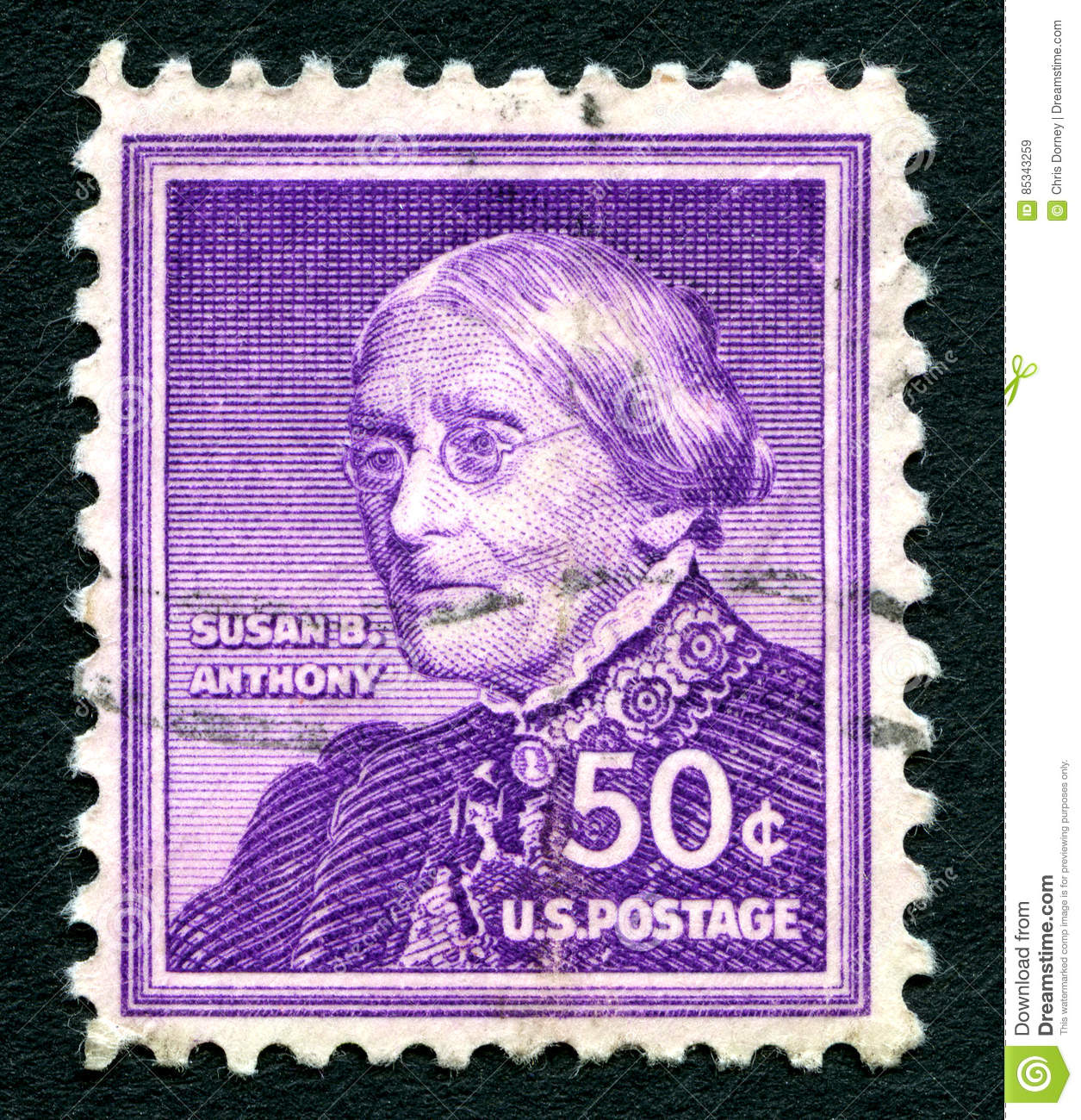 Susan B Anthony US Postage Stamp