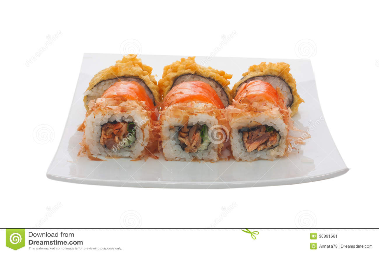 Download Sushi immagine stock. Immagine di isolato, orizzontale - 36891661