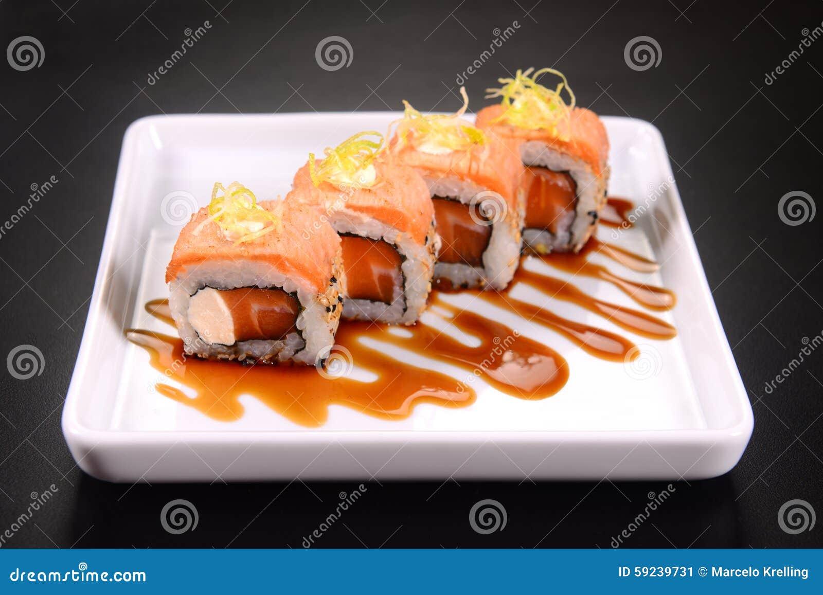 Download Sushi imagen de archivo. Imagen de bocado, gastrónomo - 59239731