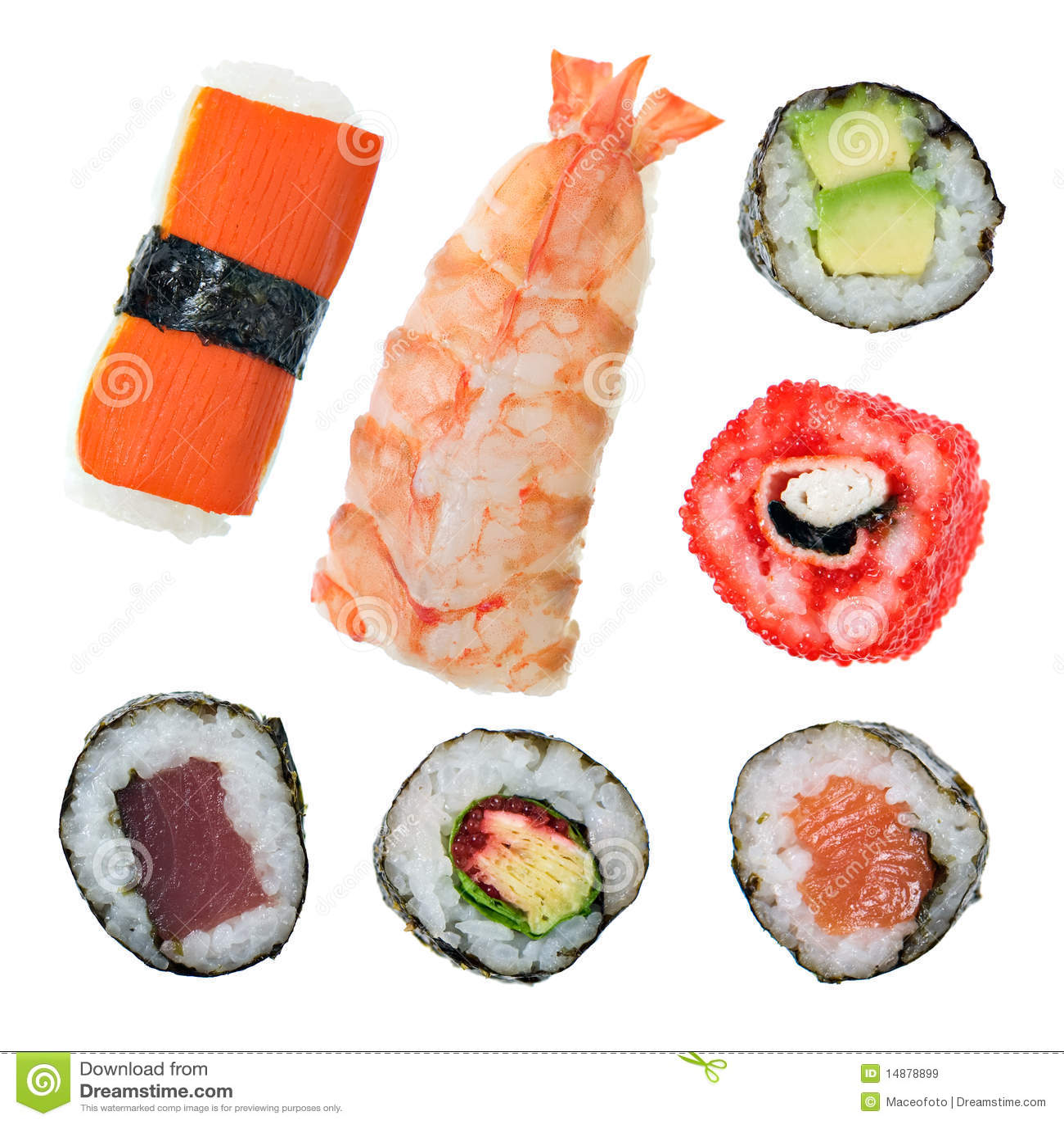 sushi arten lizenzfreie stockbilder bild 14878899. Black Bedroom Furniture Sets. Home Design Ideas