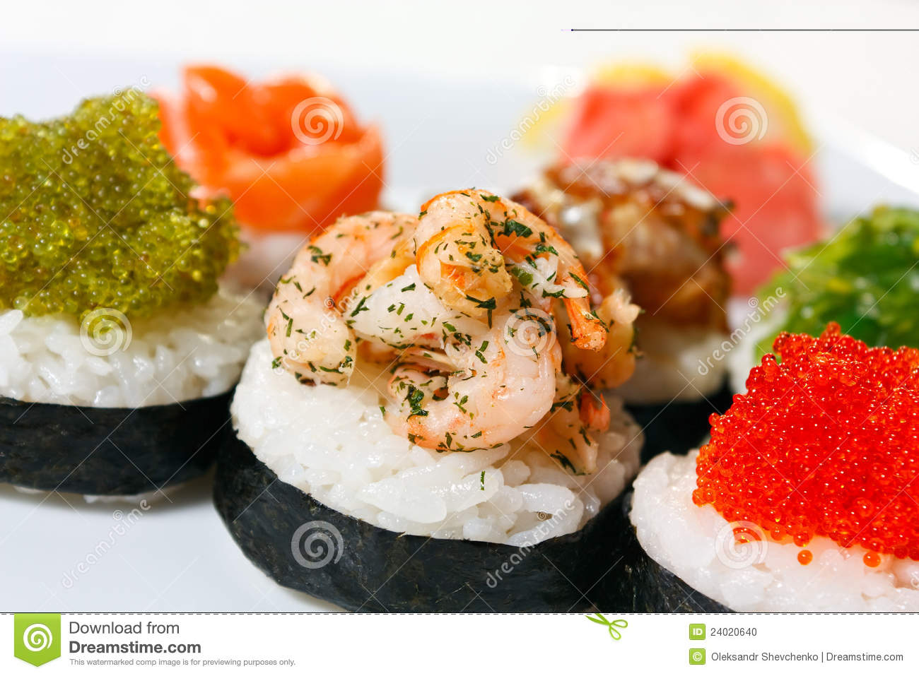 Sushi canape stock photo image 24020640 for Canape orientale