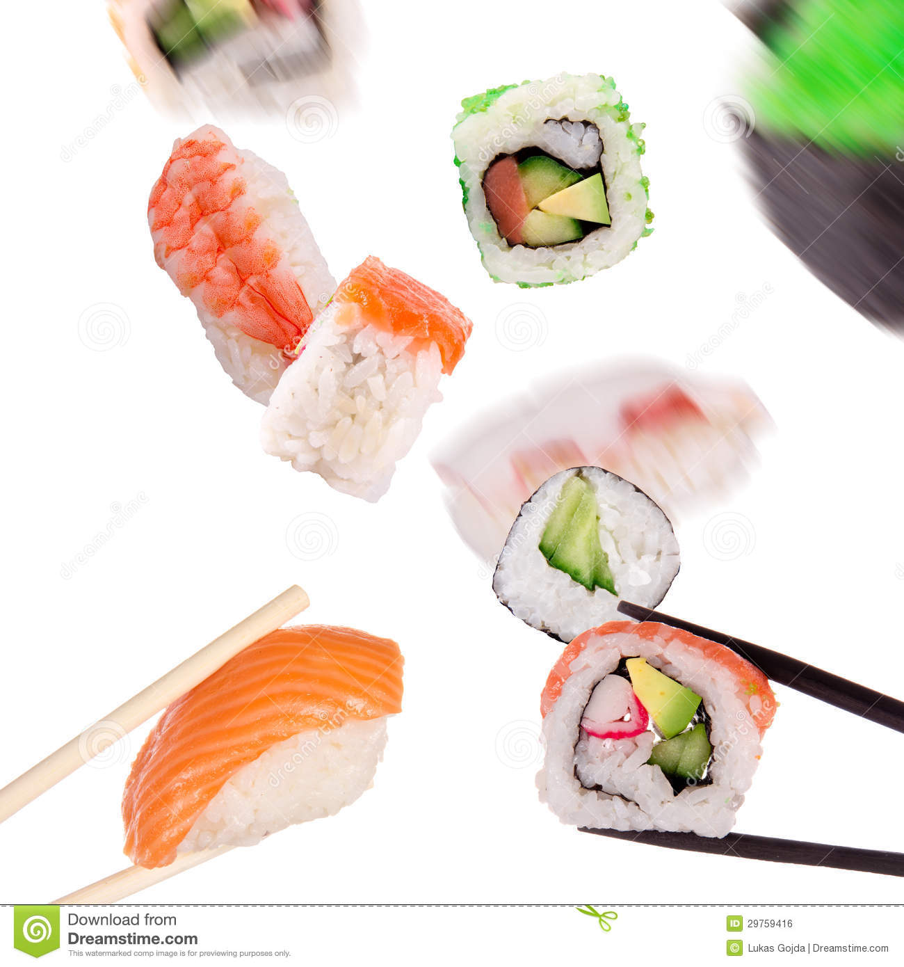 Sushi With Chopsticks Royalty Free Stock Image - Image ...