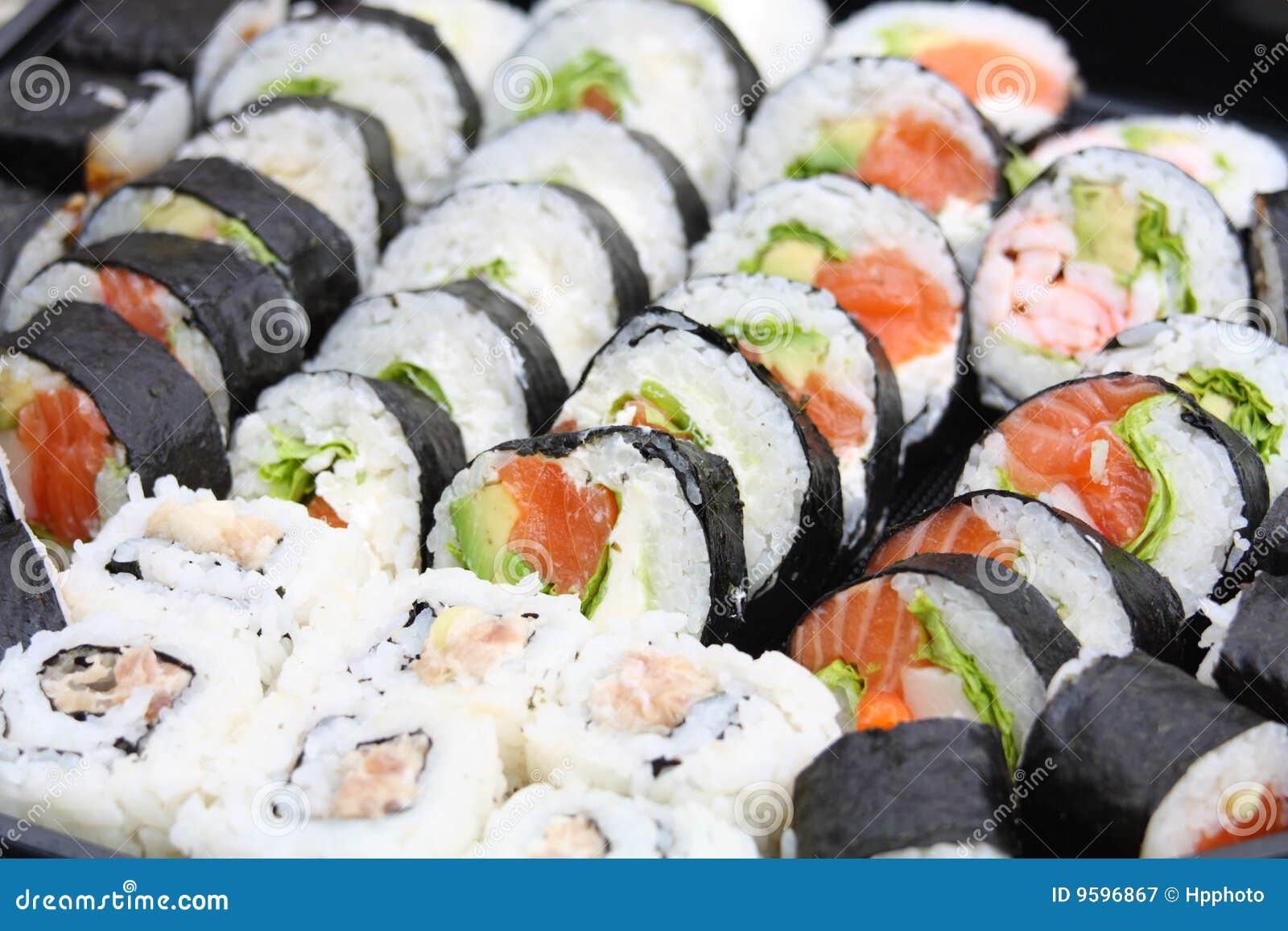 Sushi da mistura do japonês