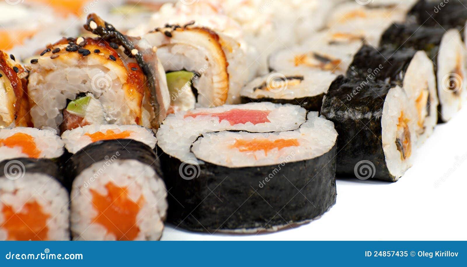 Sushi in der Zusammenstellung