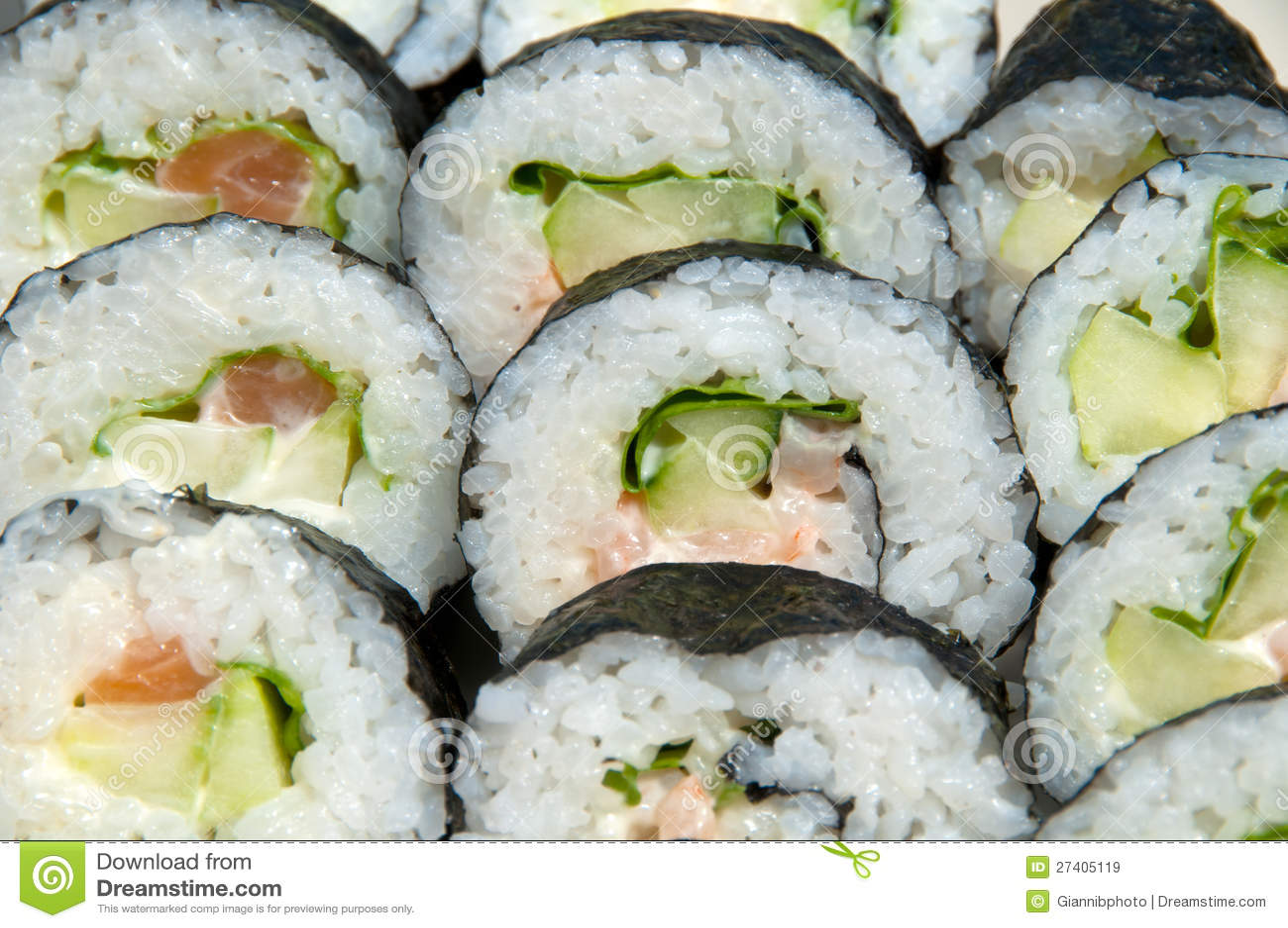 Sushi do rolo de Califórnia