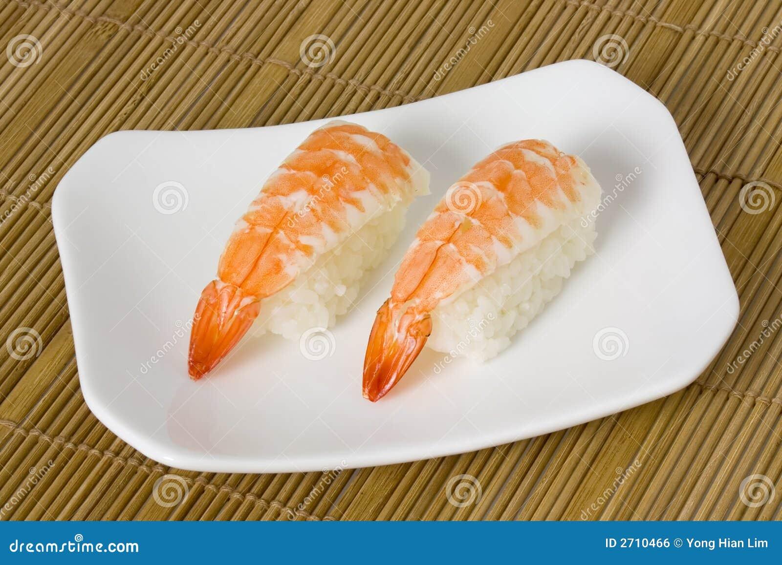 Sushi Ebi Nigiri Stock Photo Image Of Seafood Food 2710466