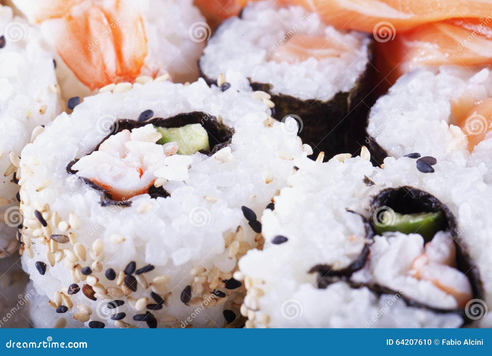 Sushi en cierre para arriba