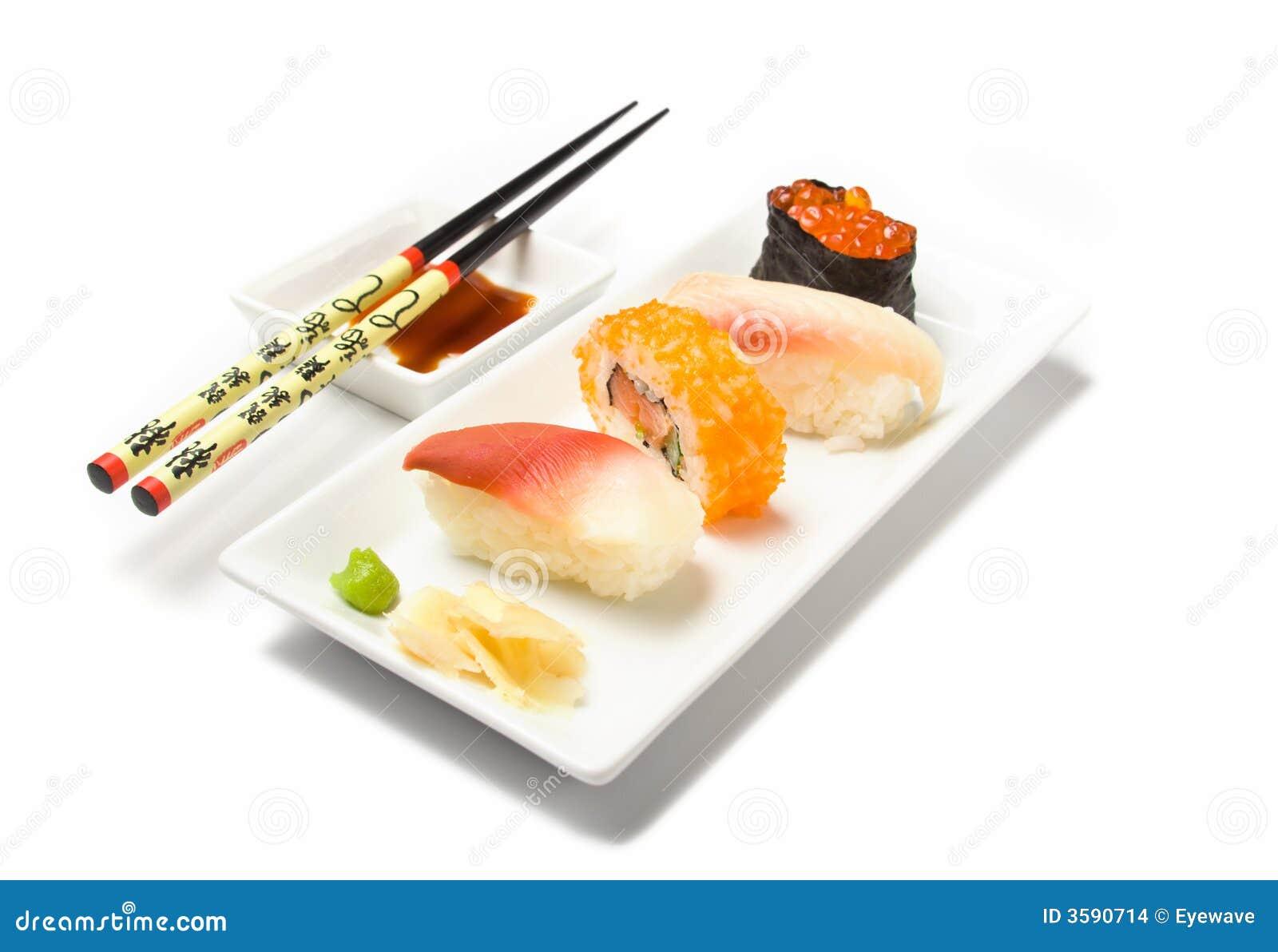 Sushi et baguettes de Nigiri
