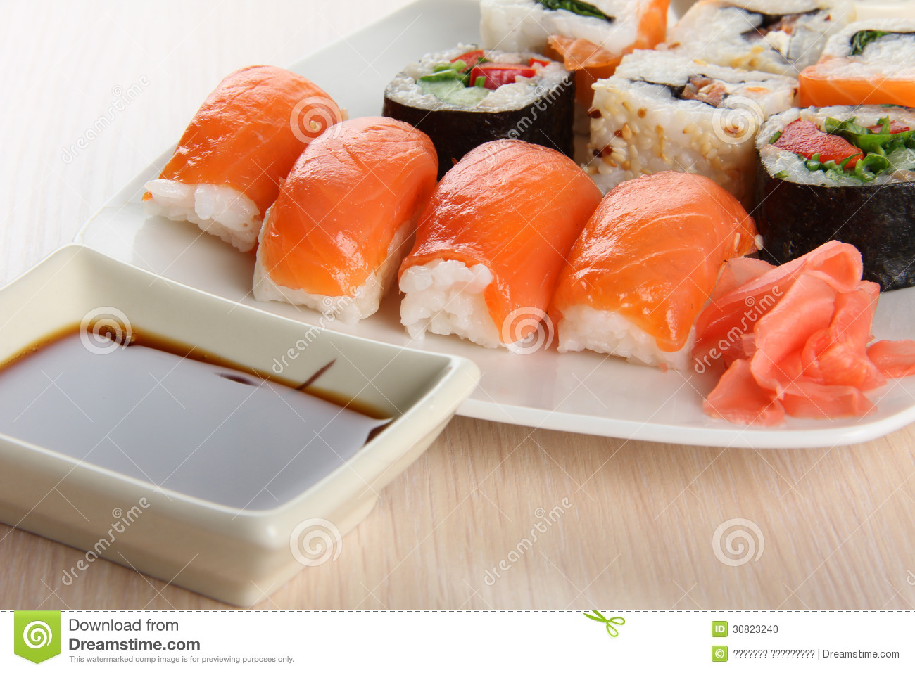 Sushi fish stock photo image 30823240 for Best fish for sushi