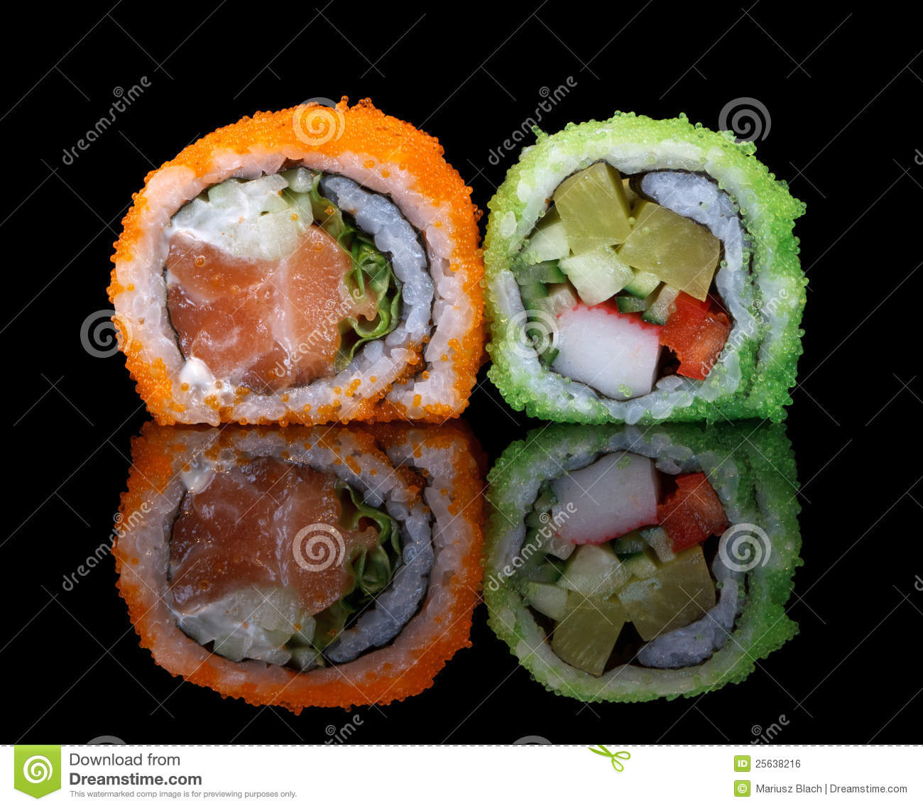Sushi with fish eggs royalty free stock image image for Fish eggs on sushi