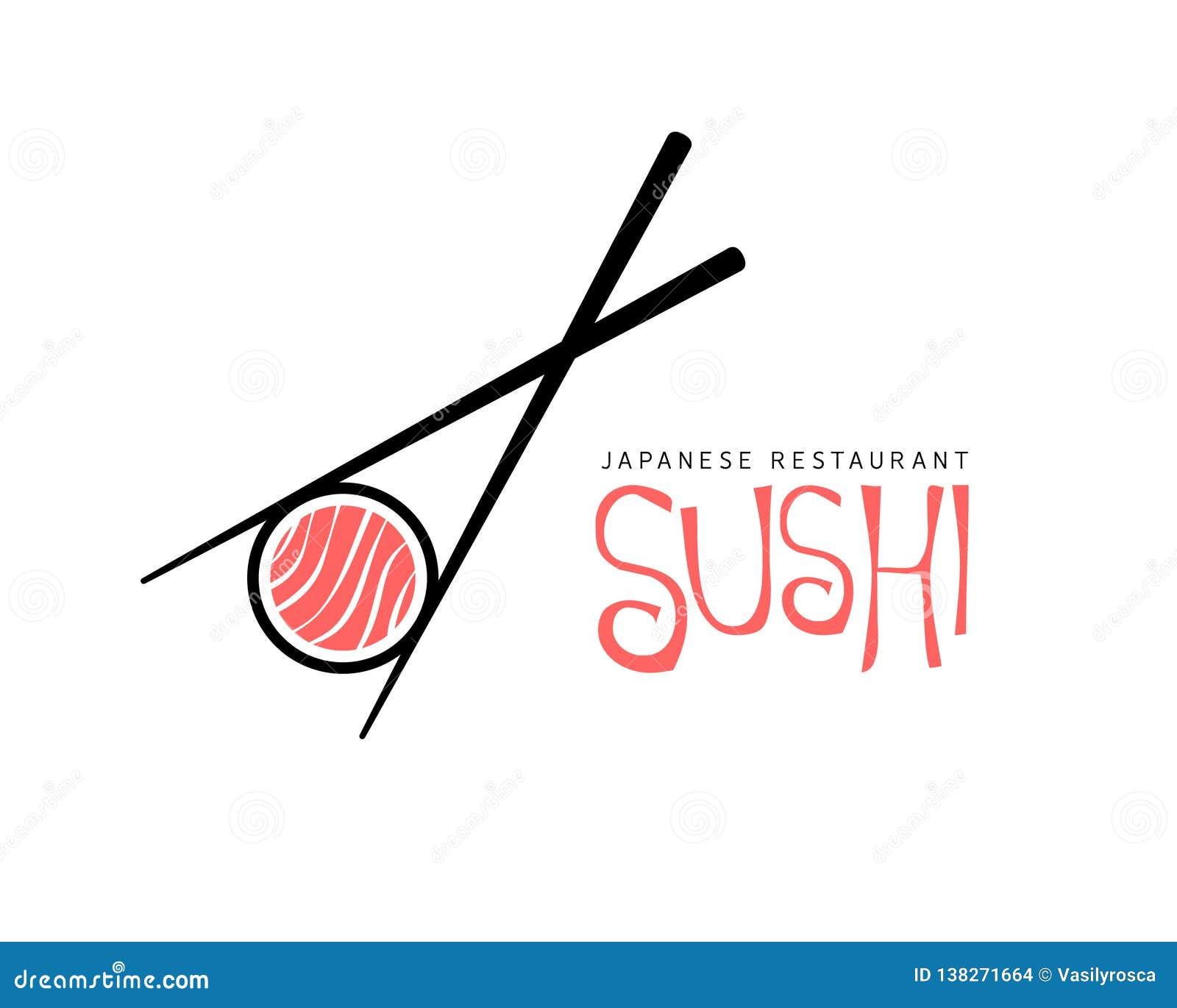 Sushi Logo Fish Food Japan Restaurant Japanese Seafood Logo Asian Dinner Stock Illustration Illustration Of Design Logo 138271664