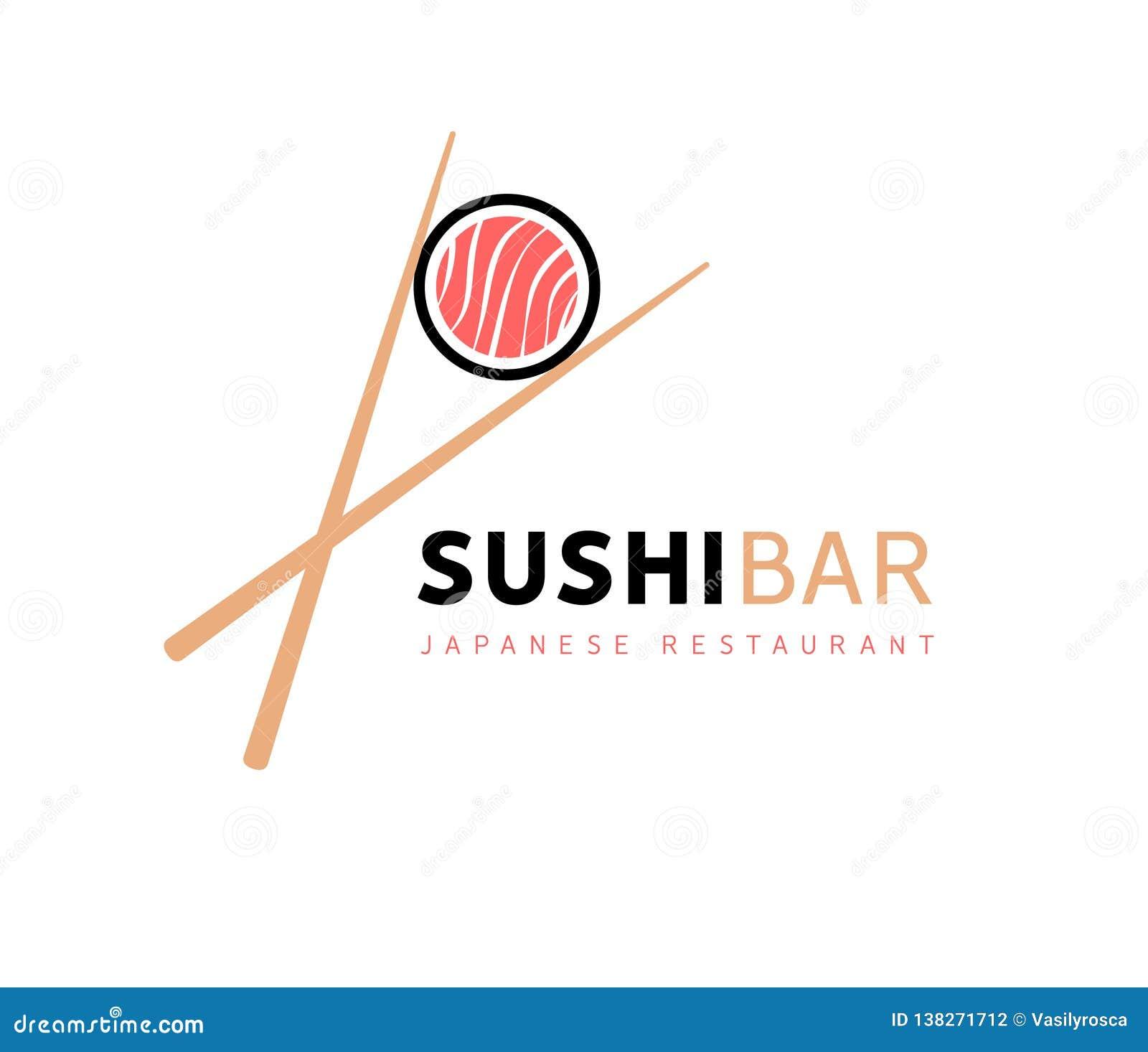 Sushi Logo Fish Food Japan Restaurant Japanese Seafood Logo Asian Dinner Stock Illustration Illustration Of Japan Fish 138271712