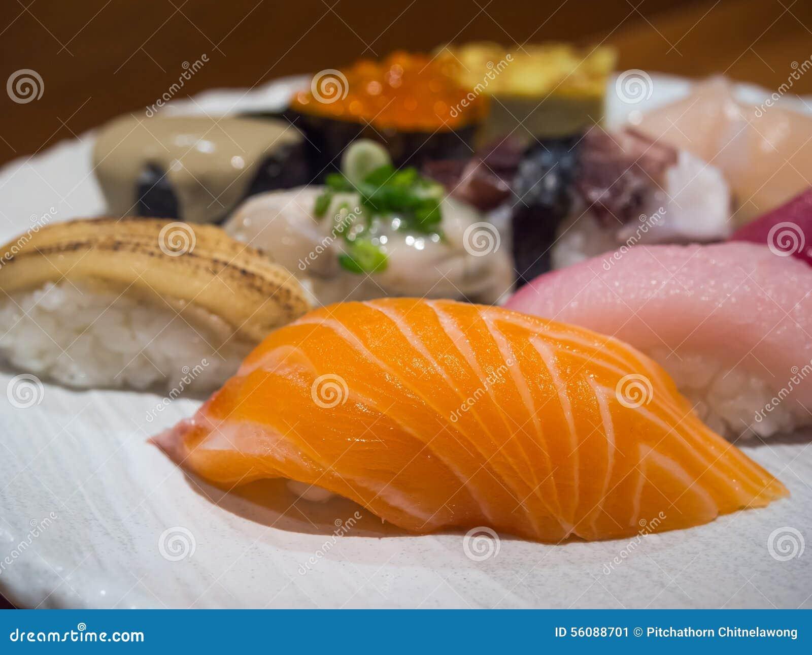 Sushi is luxury japanese food stock photo image 56088701 for Is sushi raw fish
