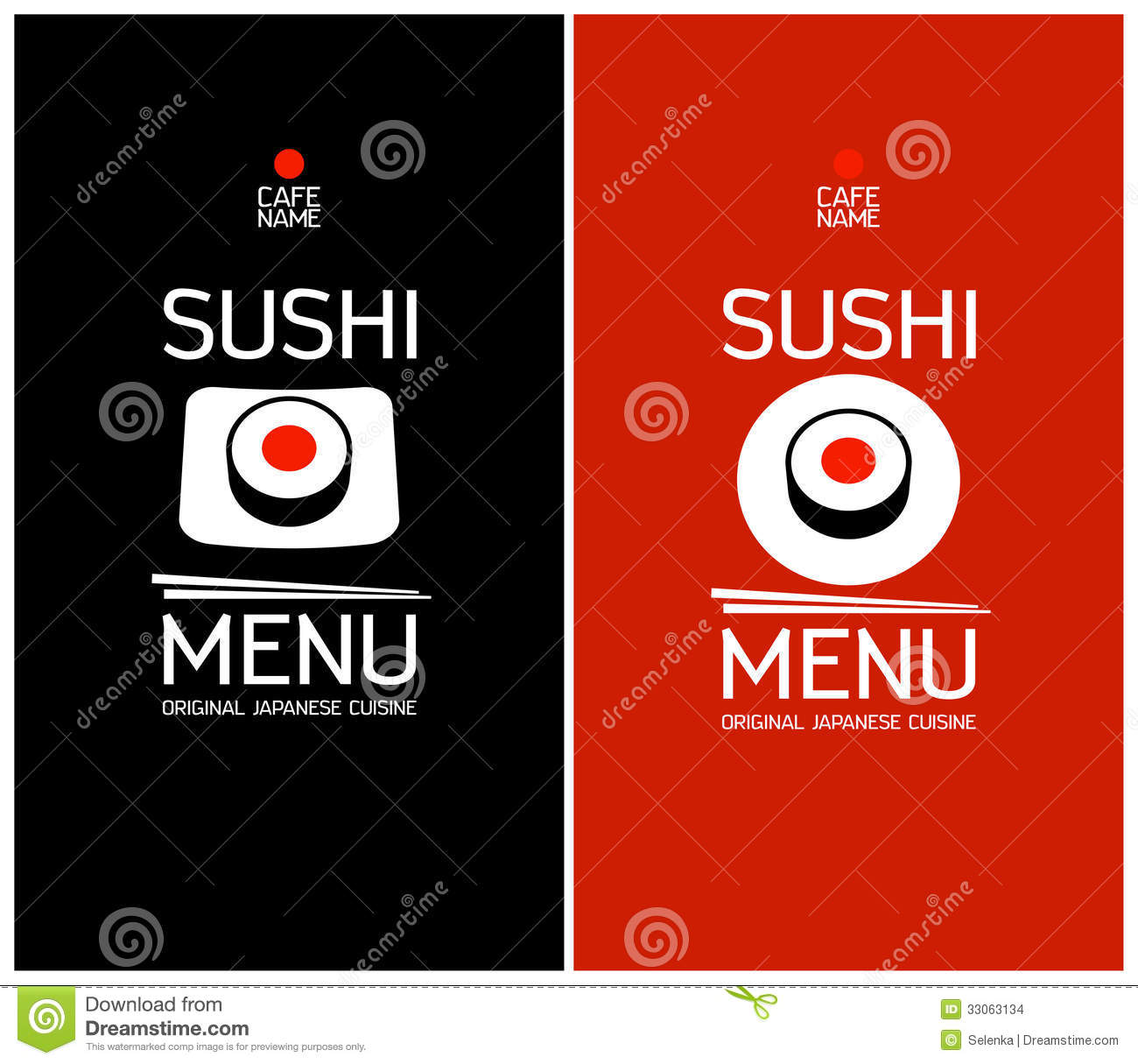 Sushi menu design template stock vector image 33063134 royalty free stock photo download sushi menu design template pronofoot35fo Choice Image