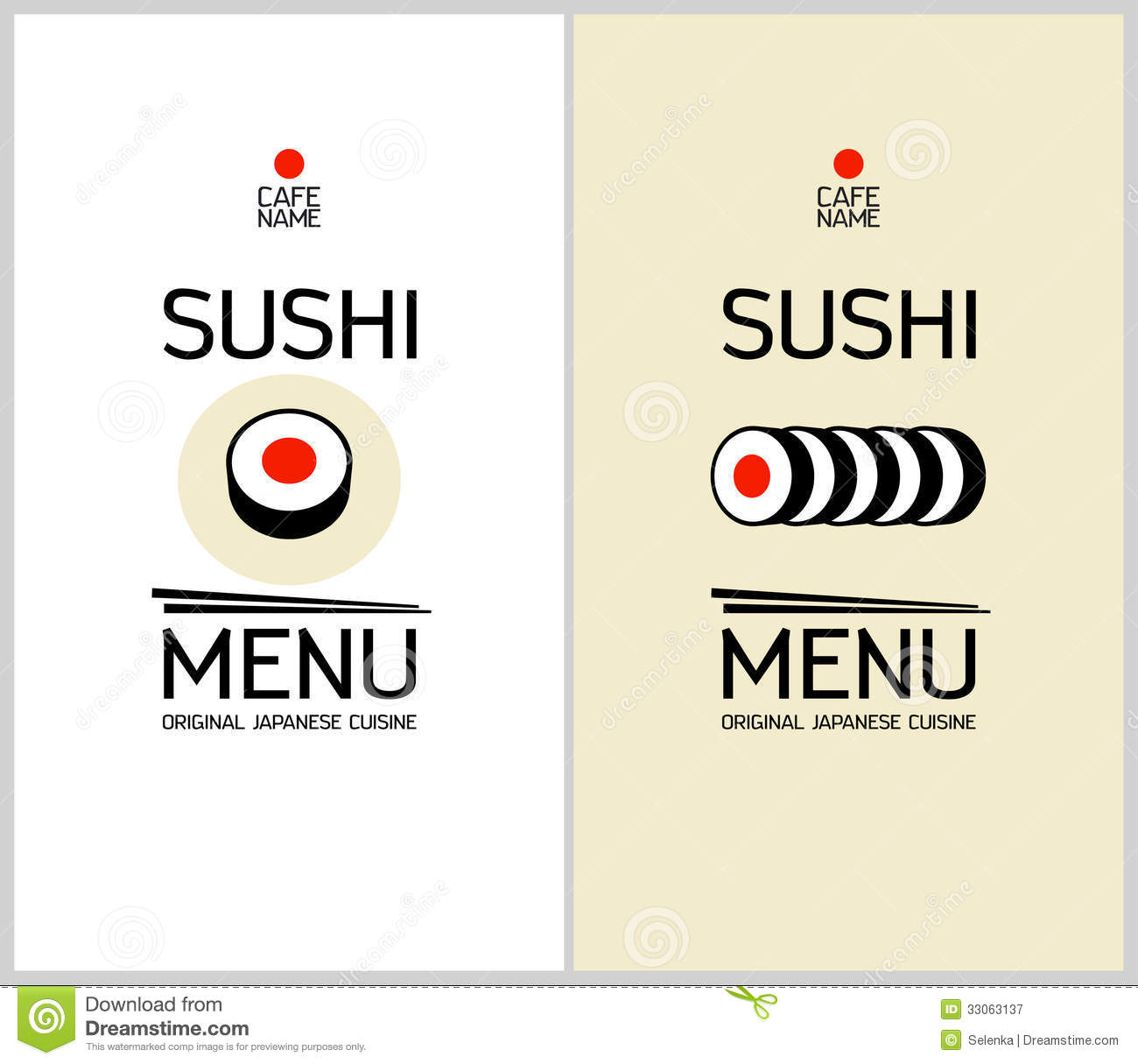 Sushi Menu Design Template. Royalty Free Stock Photography - Image ...