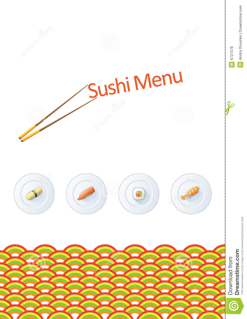 Sushi menu template stock vector illustration of graphic 6727578 sushi menu template pronofoot35fo Gallery