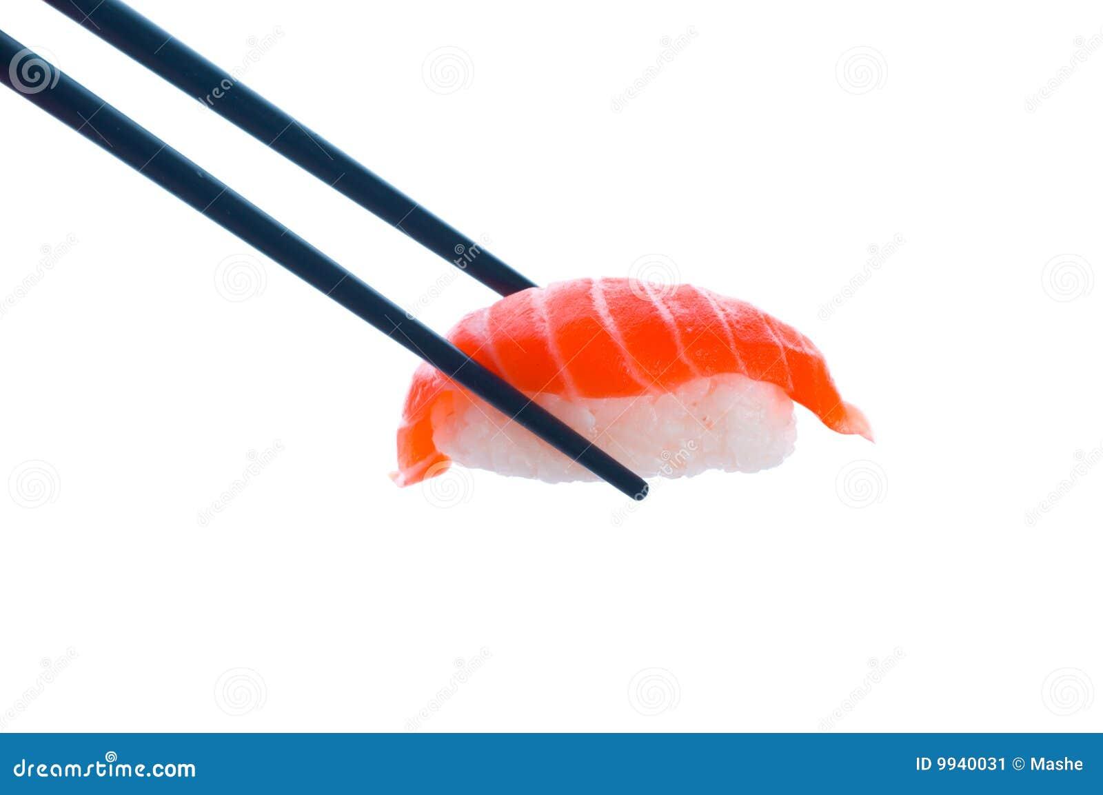 Sushi met eetstokjes