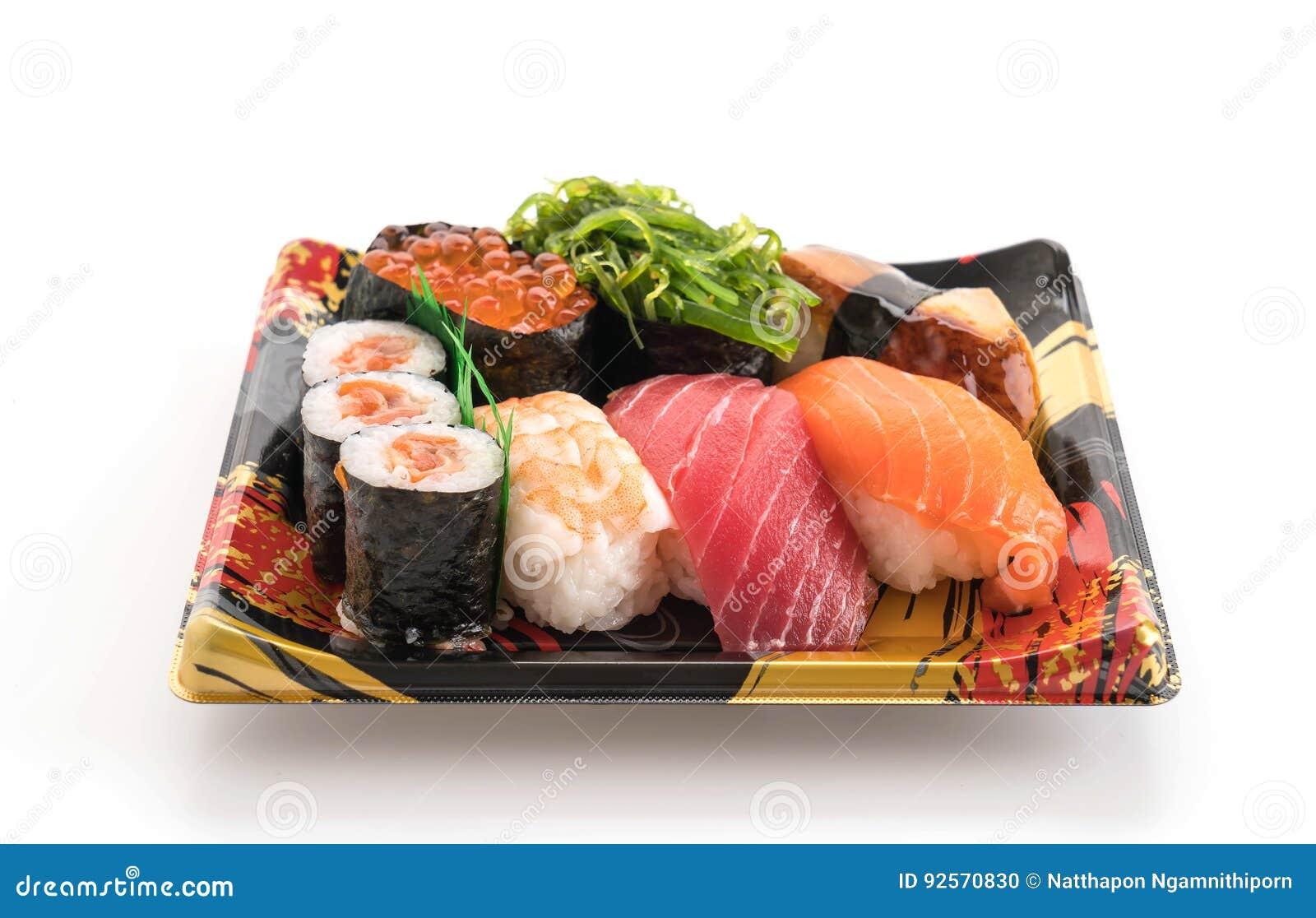 Sushi misti messi - alimento giapponese