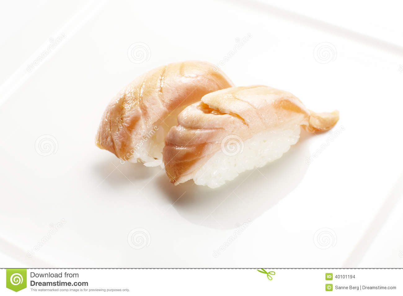 Sushi Nigiri With Flame Grilled Salmon Stock Photo Image Of Healthy Food 40101194