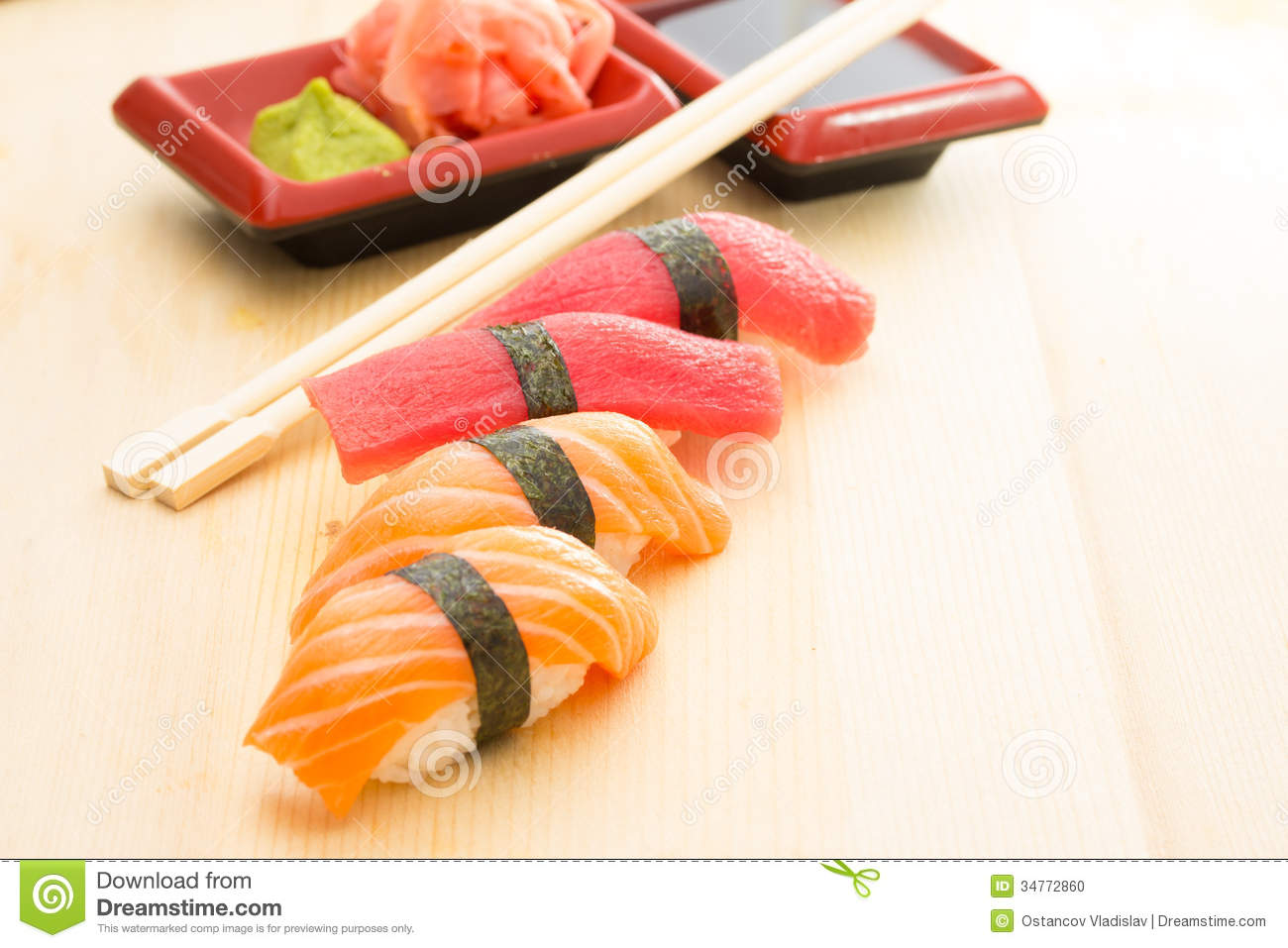 how to cut tuna for sushi nigiri