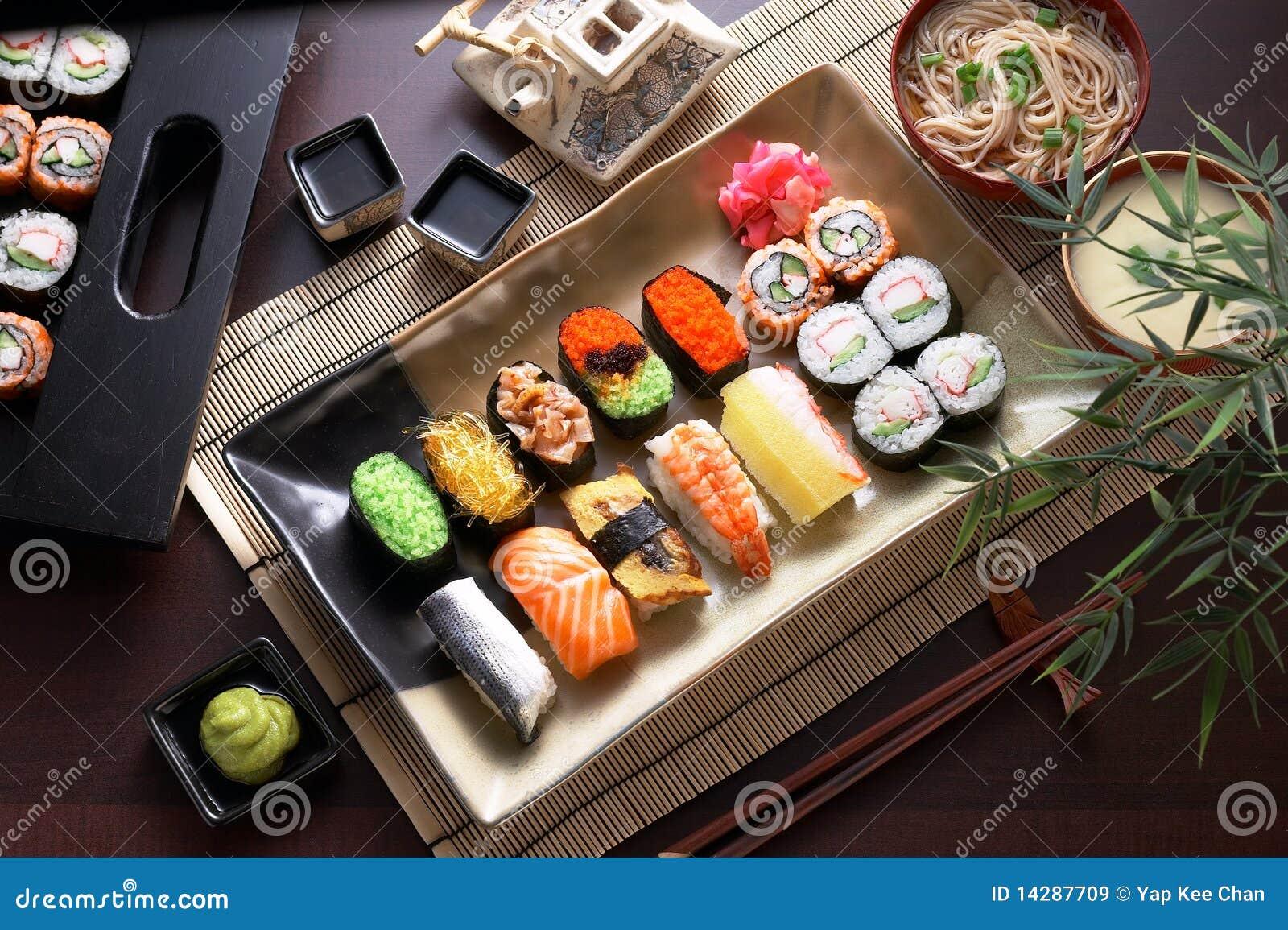 Sushi Platter on Auto Mechanic Car Repair